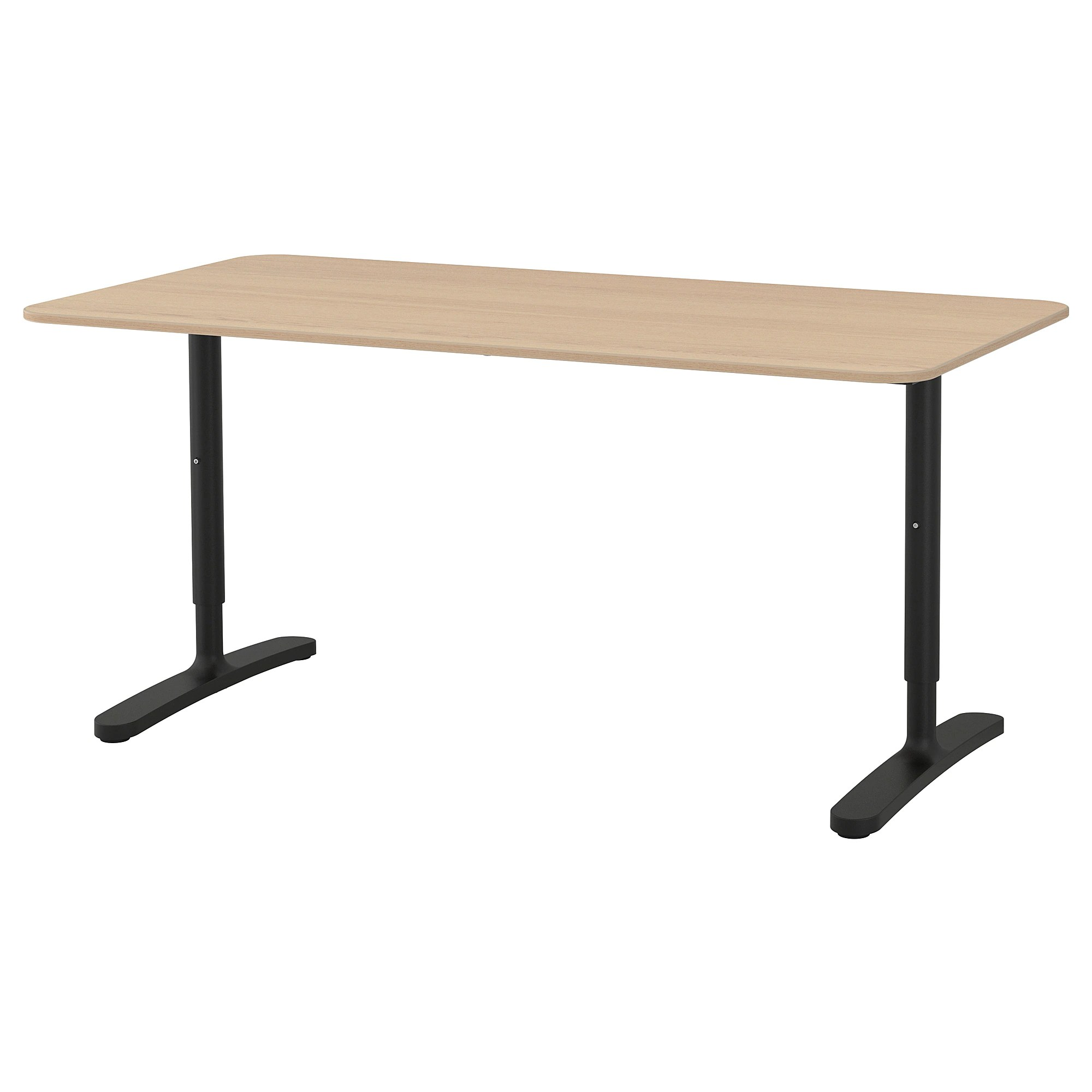 Ecktisch Ikea Bekant Desk Black Stained Ash Veneer Black