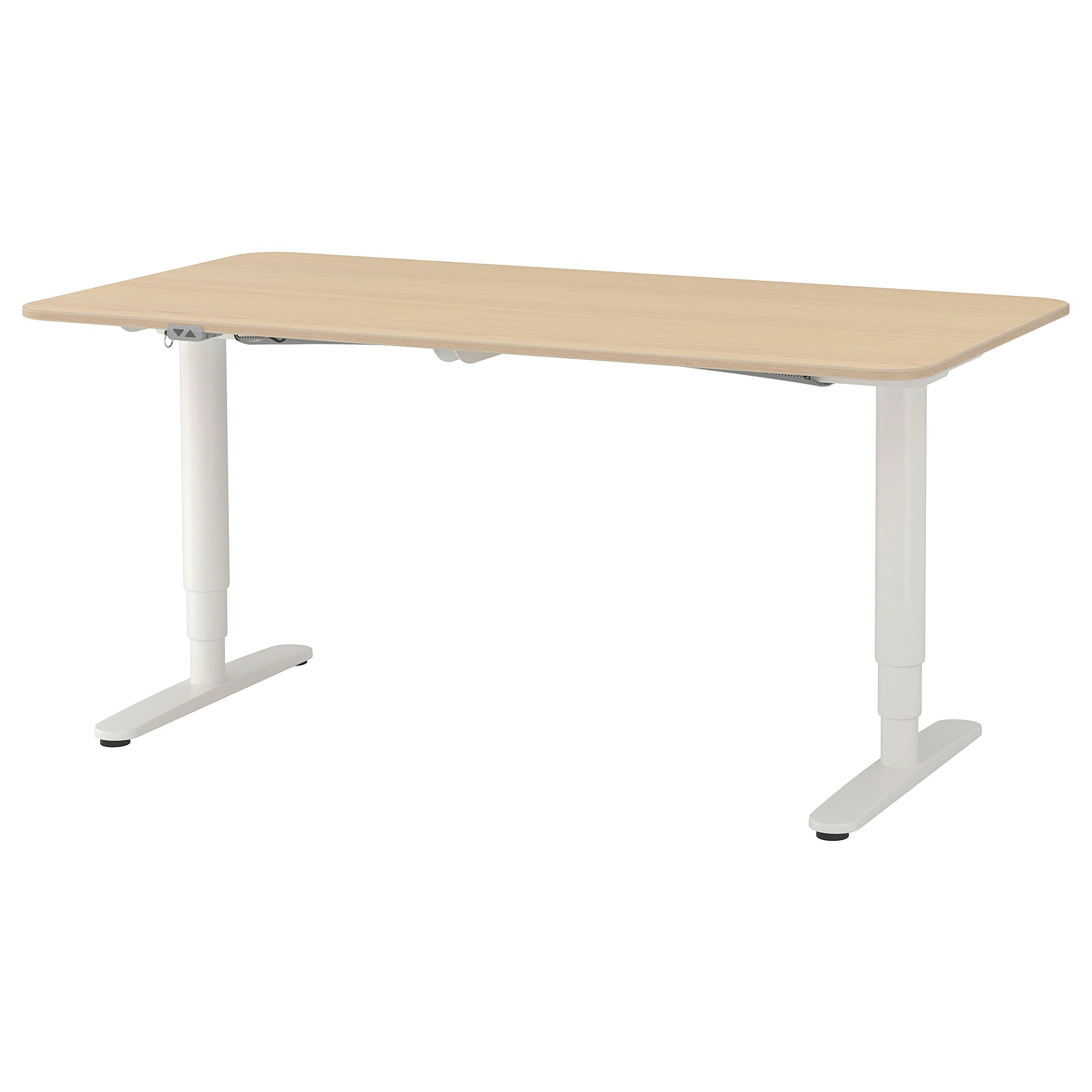 Monitor Stand Ikea Bekant Desk Sit Stand White
