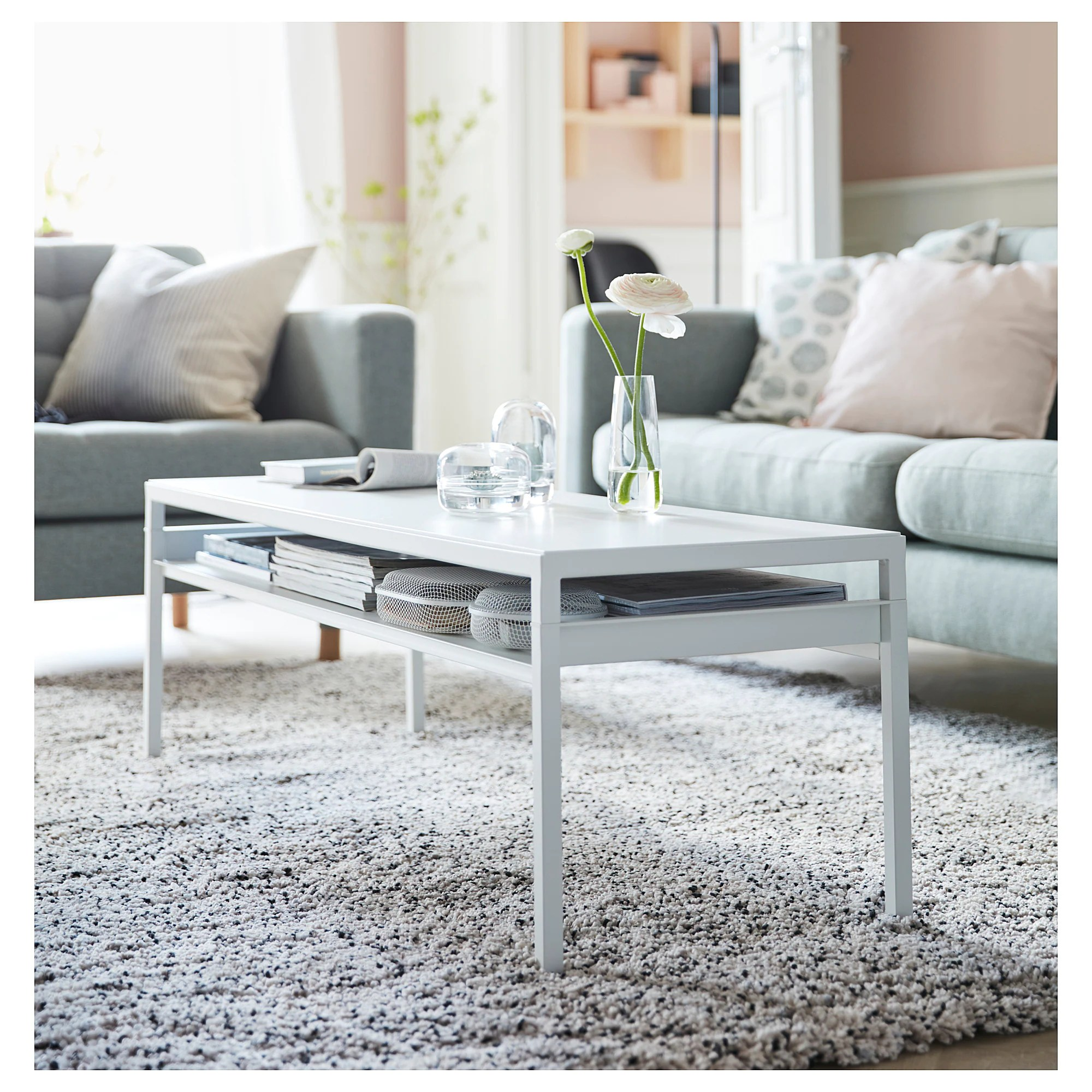 Prairie Couchtisch Nyboda Coffee Table W Reversible Table Top White Gray