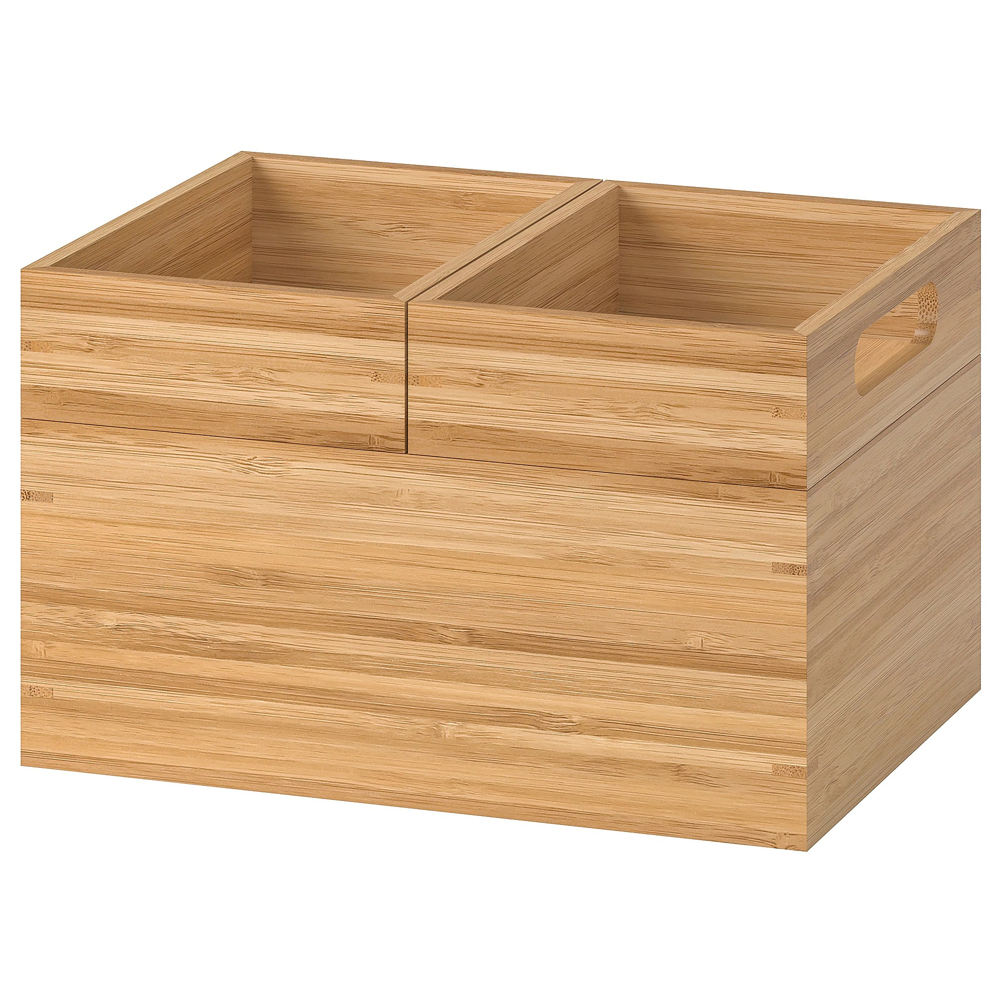 Aktuelle Badezimmer Trends Dragan Box 3er-set - Bambus - Ikea