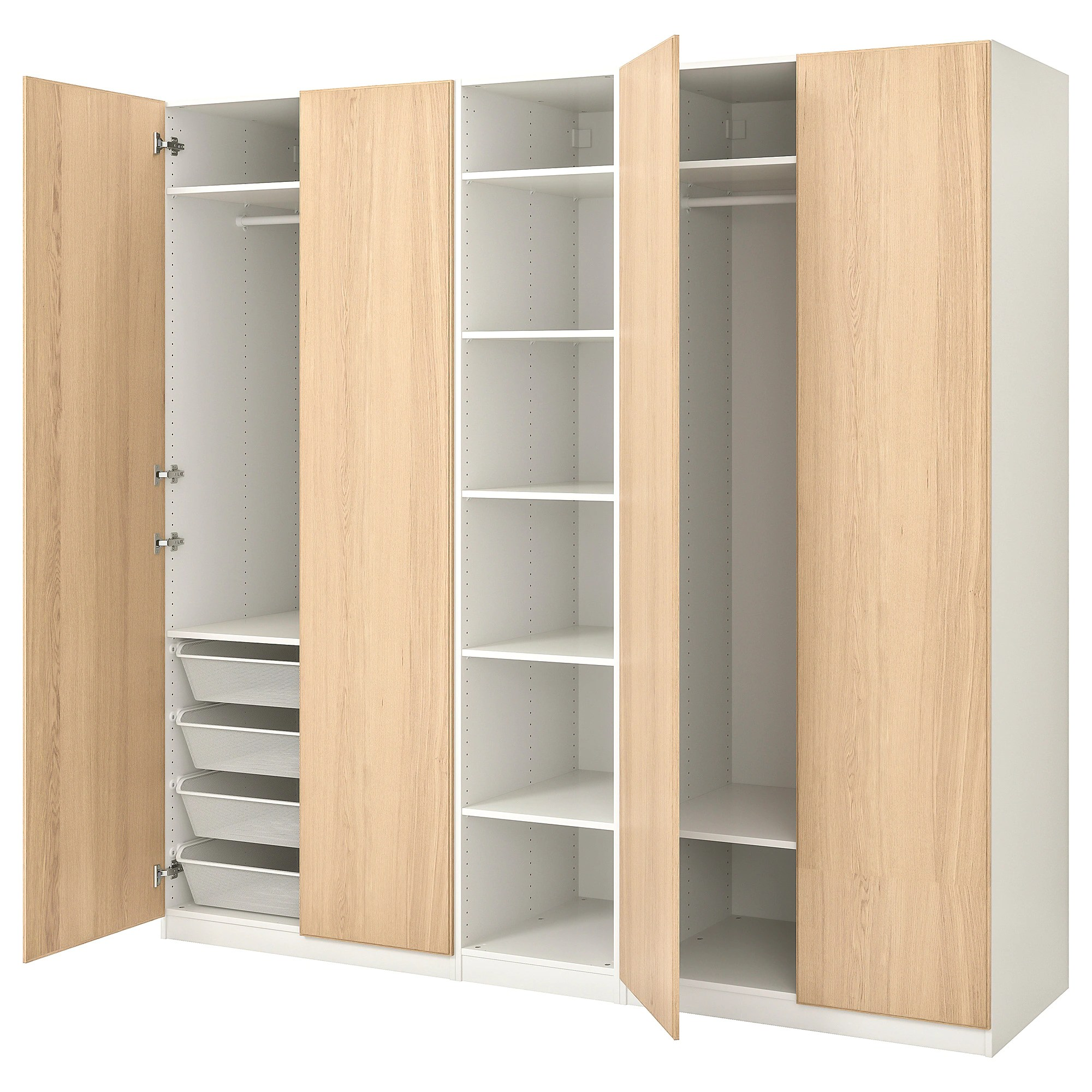 Ikea Pax Click And Collect Pax Wardrobe White Repvåg White Stained Oak Veneer
