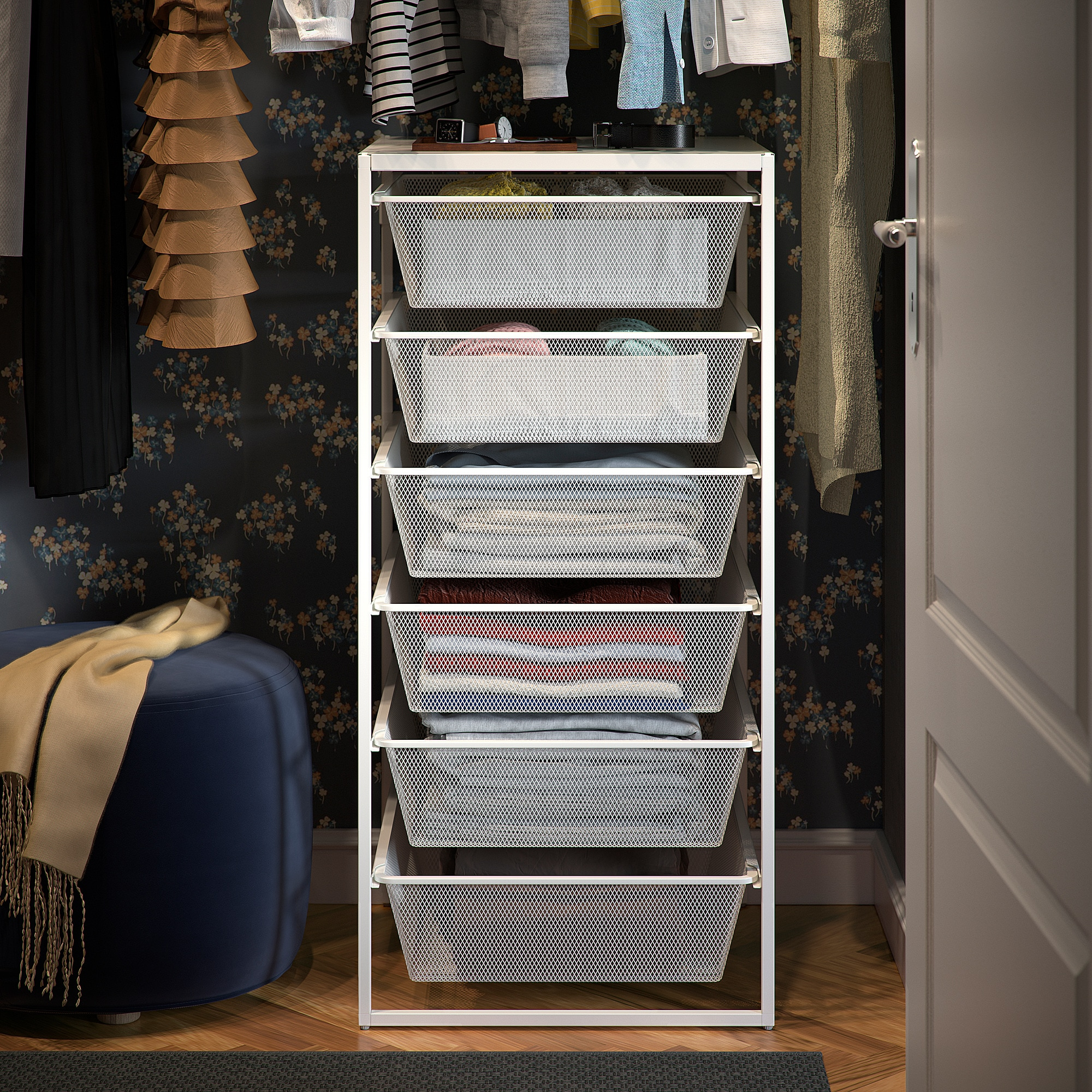 Ikea Wardrobe Tidy Jonaxel Frame With Mesh Baskets