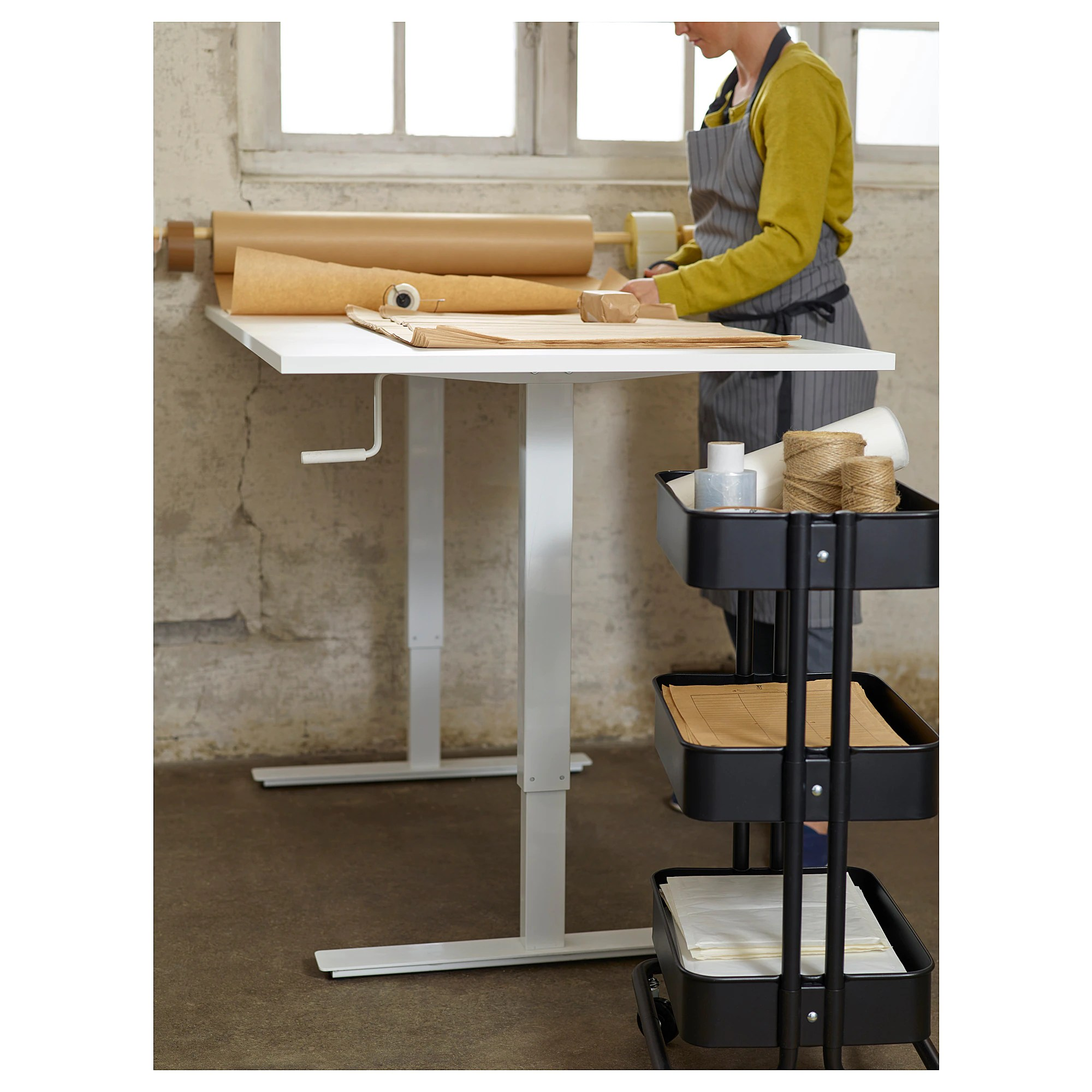 Stand Up Desk Ikea Skarsta Desk Sit Stand White