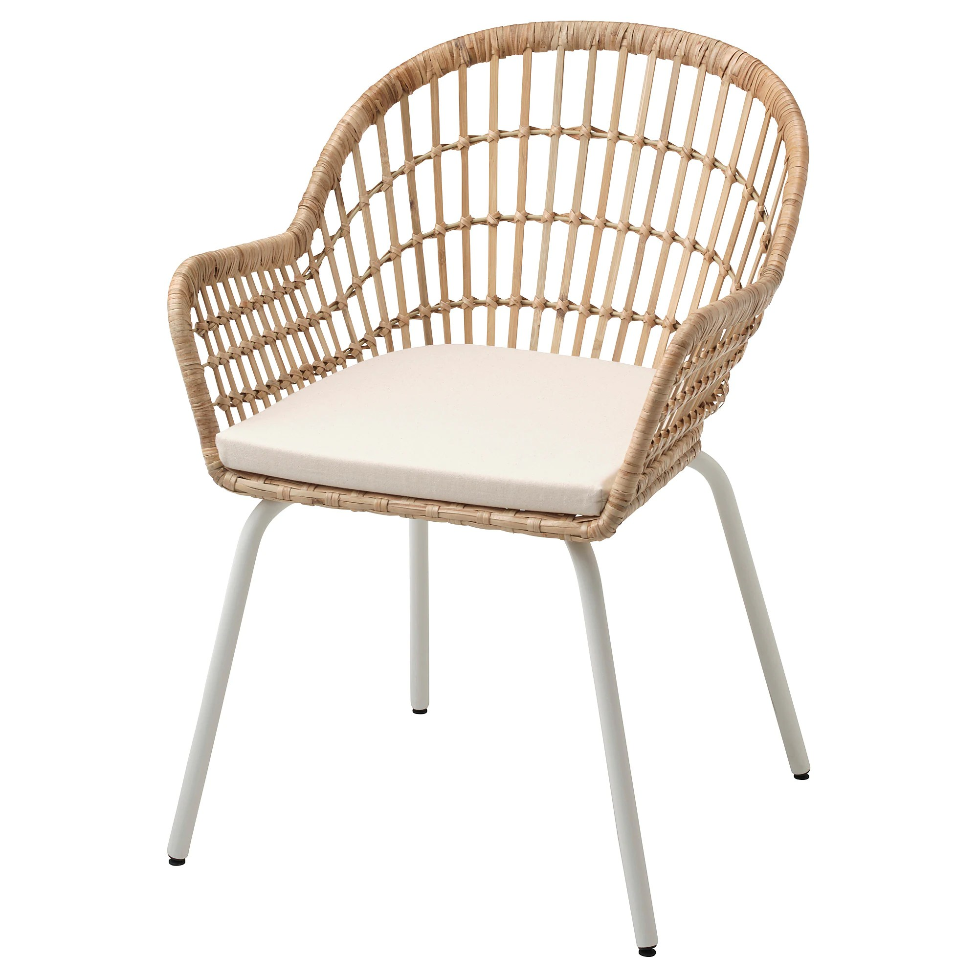 Rattan Ikea Nilsove Norna Chair With Chair Pad Rattan White Laila Natural