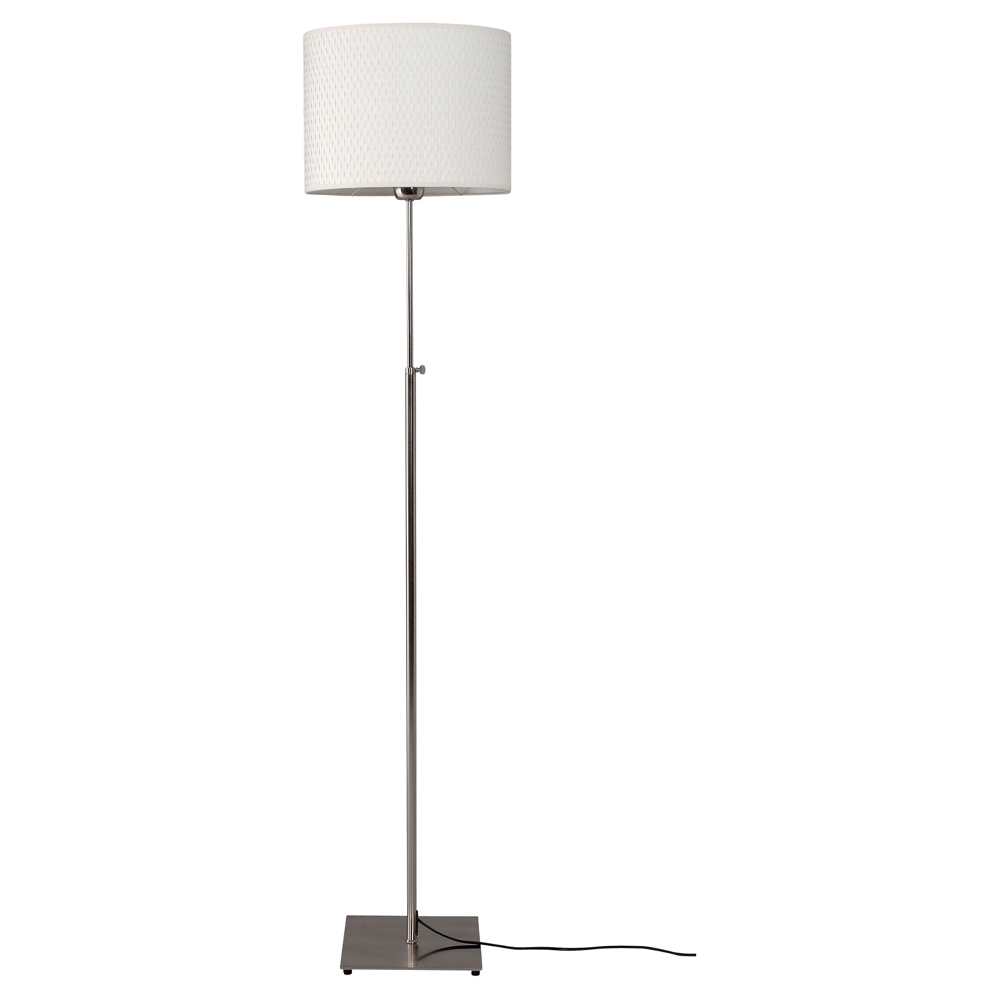 Led White AlÄng Floor Lamp With Led Bulb Nickel Plated White