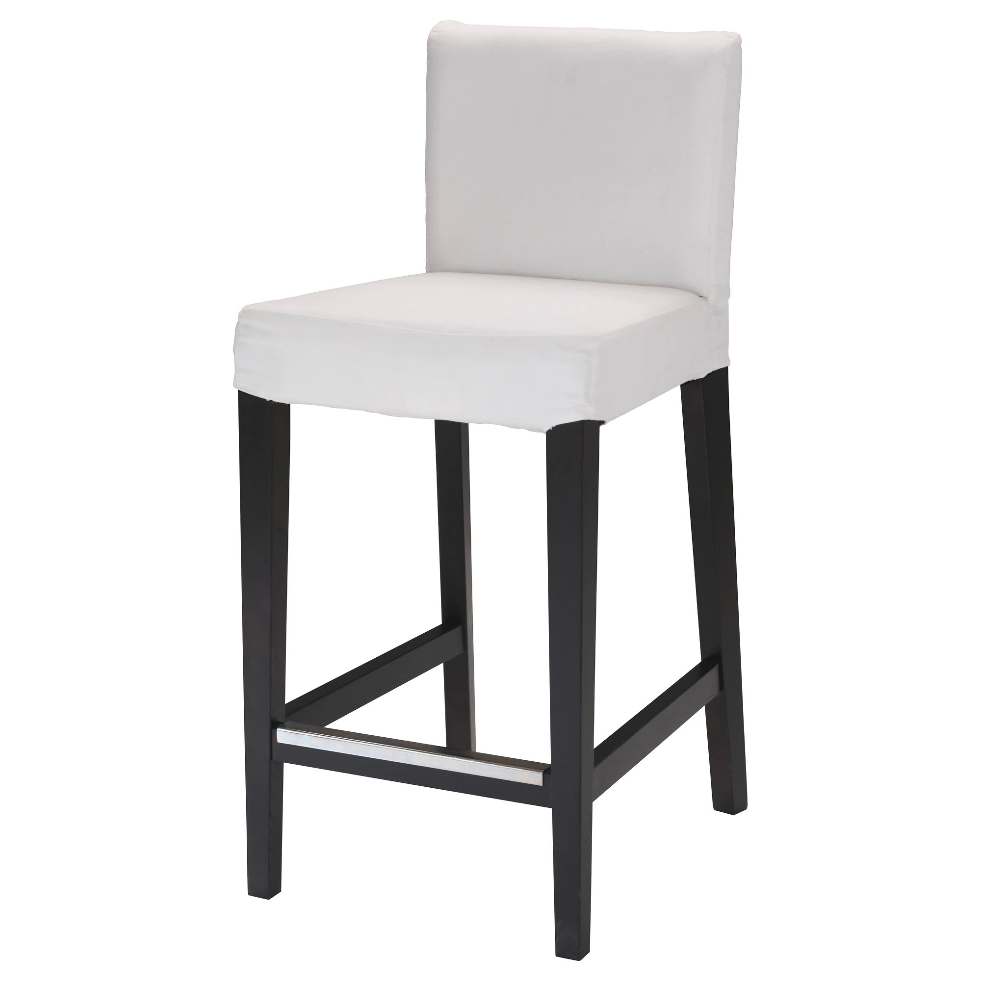 Bar Stool Chairs Henriksdal Bar Stool With Backrest Frame Dark Brown
