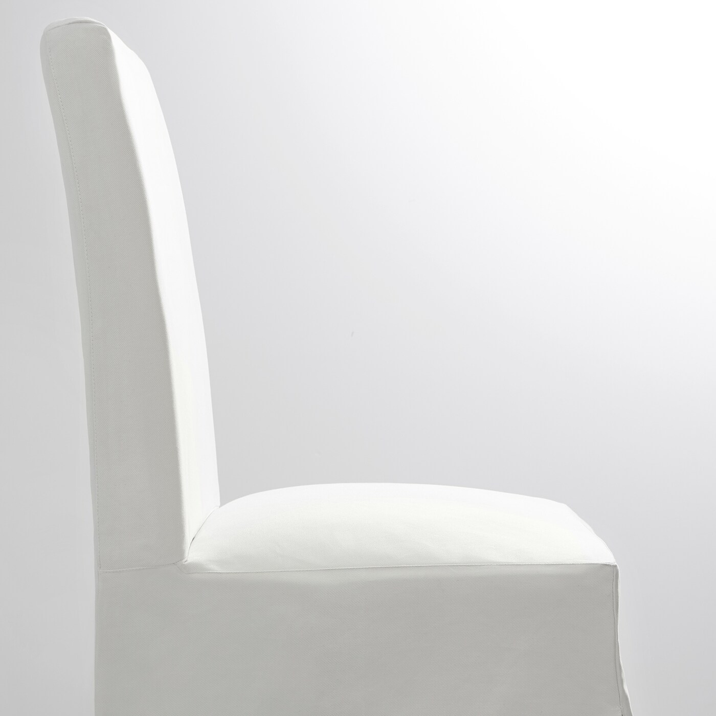 Henriksdal Chair With Long Cover Birch Blekinge White Ikea