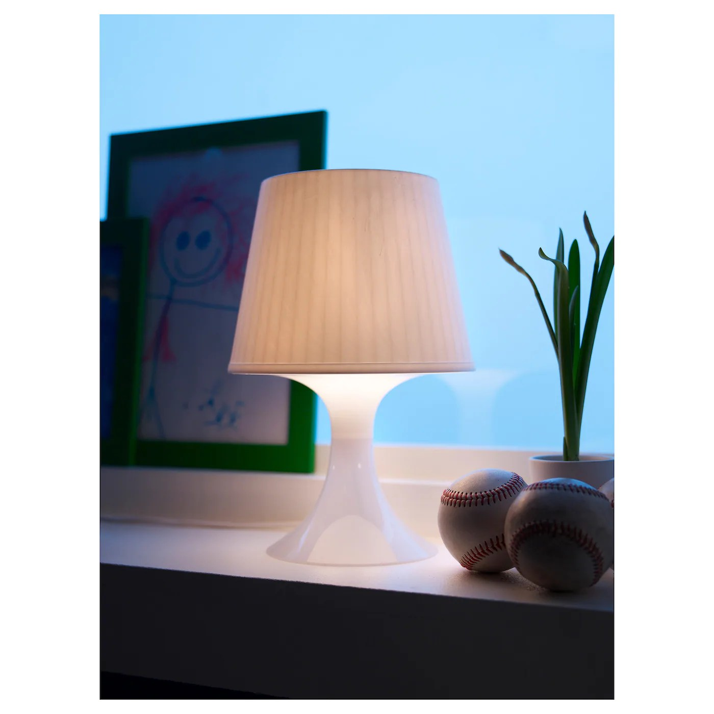 Ikea Küchensockel Ikea Lampan Silver Table Lamp Night Light Bedroom Living Shade Fabric Soft Mood