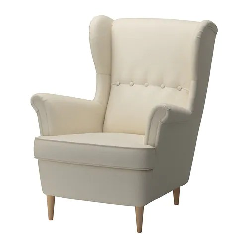 Fauteuil Wingback Ikea Strandmon Wing Chair - Isefall Natural - Ikea