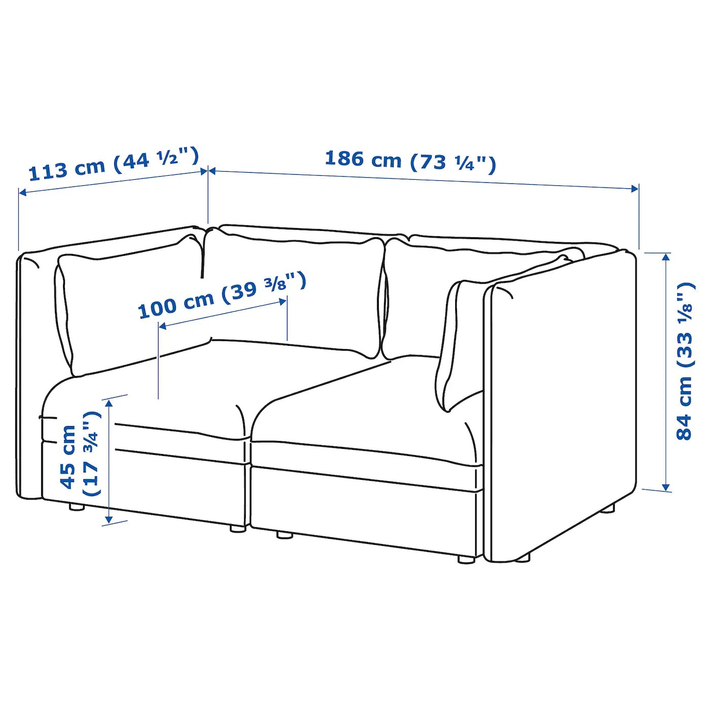 Sofa 2 Sitzer Ikea Buy Vallentuna 2-seat Modular Sofa - Orrsta Light Grey Online - Ikea