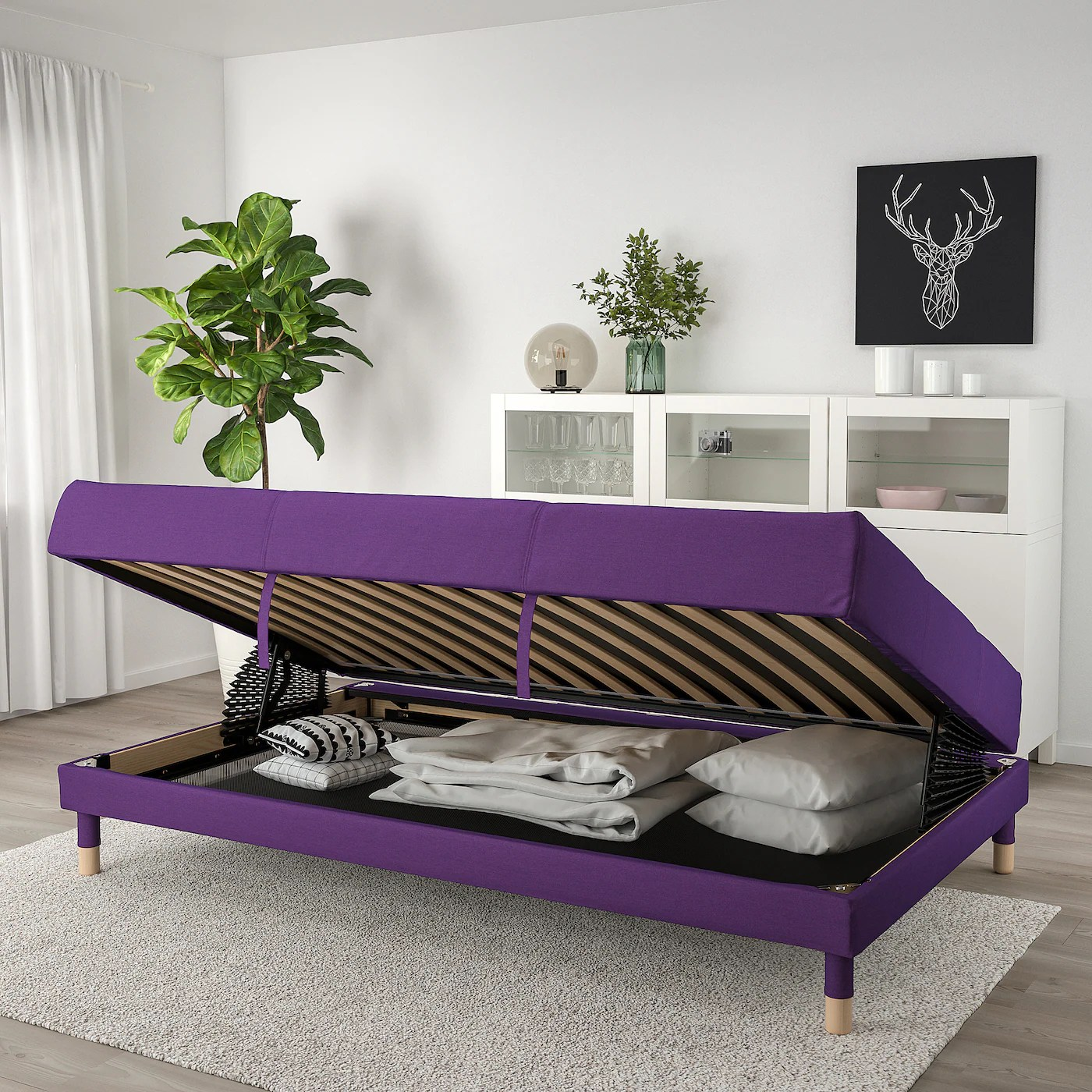 Flottebo Sofa Bed Vissle Purple 120 Cm Ikea