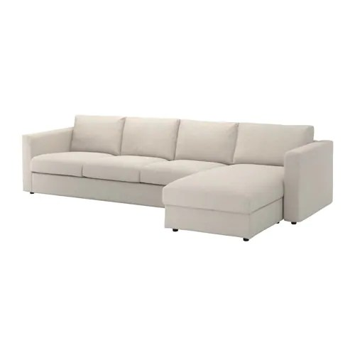 Ikea Sofas Chaise Longue Vimle 4-seat Sofa - With Chaise Longue/gunnared Beige - Ikea
