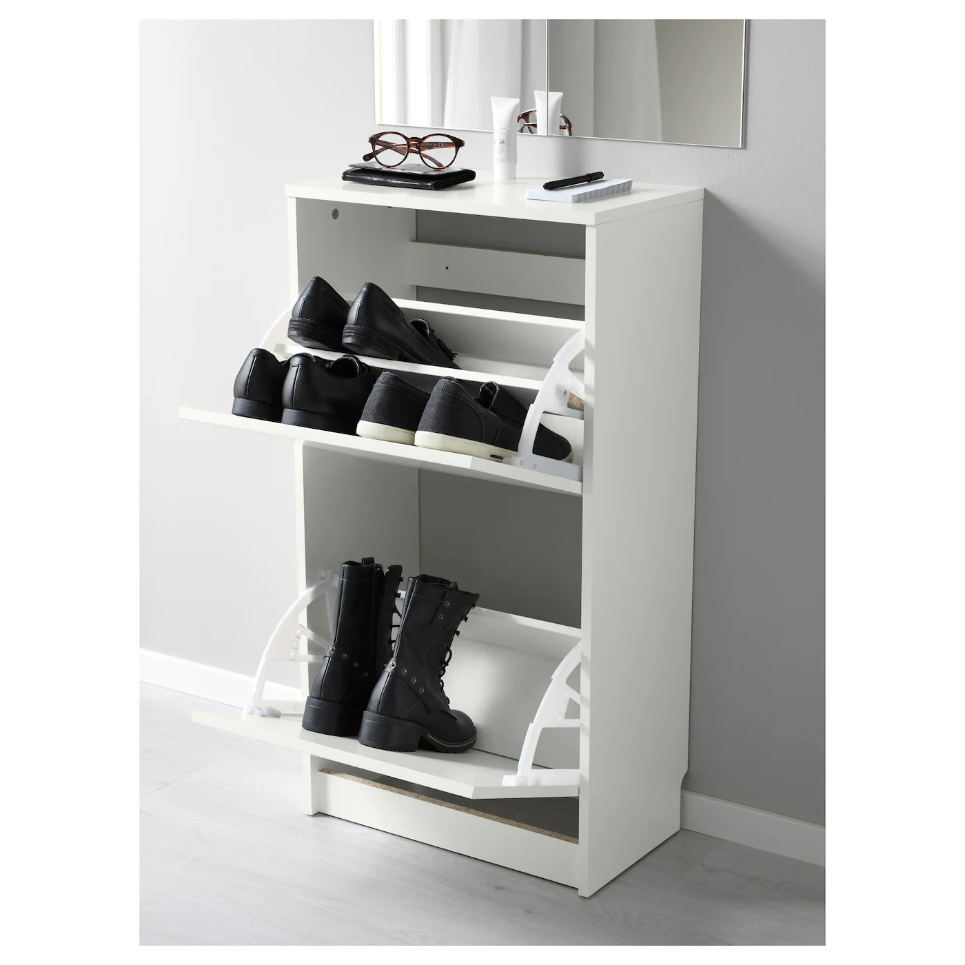 Ikea Casier Chaussures Bissa Armoire à Chaussures 2 Casiers Blanc 49x93 Cm Ikea