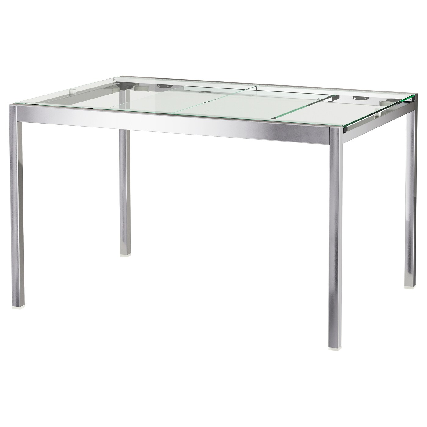 Ikea Table Ronde Avec Rallonge Glivarp Table Extensible Transparent Chromé