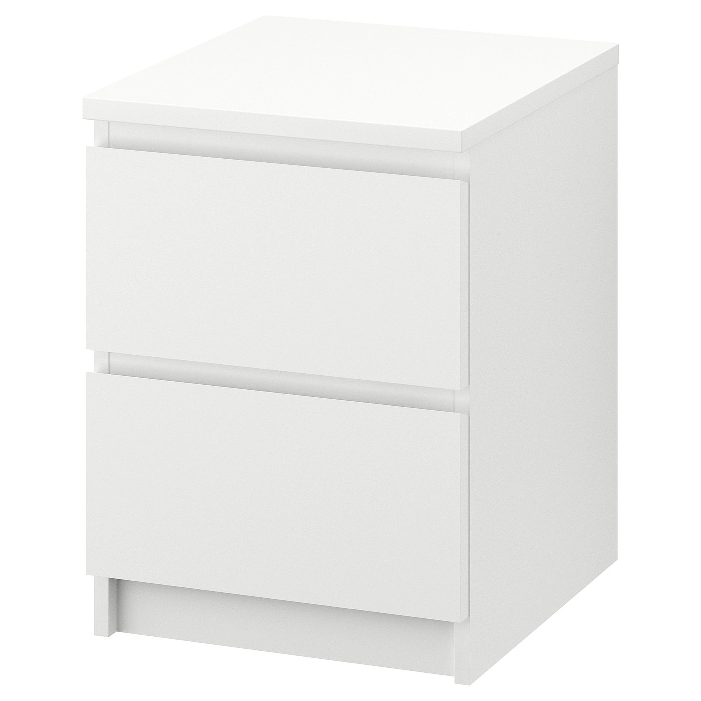 Dimension Table De Chevet Malm Commode 2 Tiroirs Blanc
