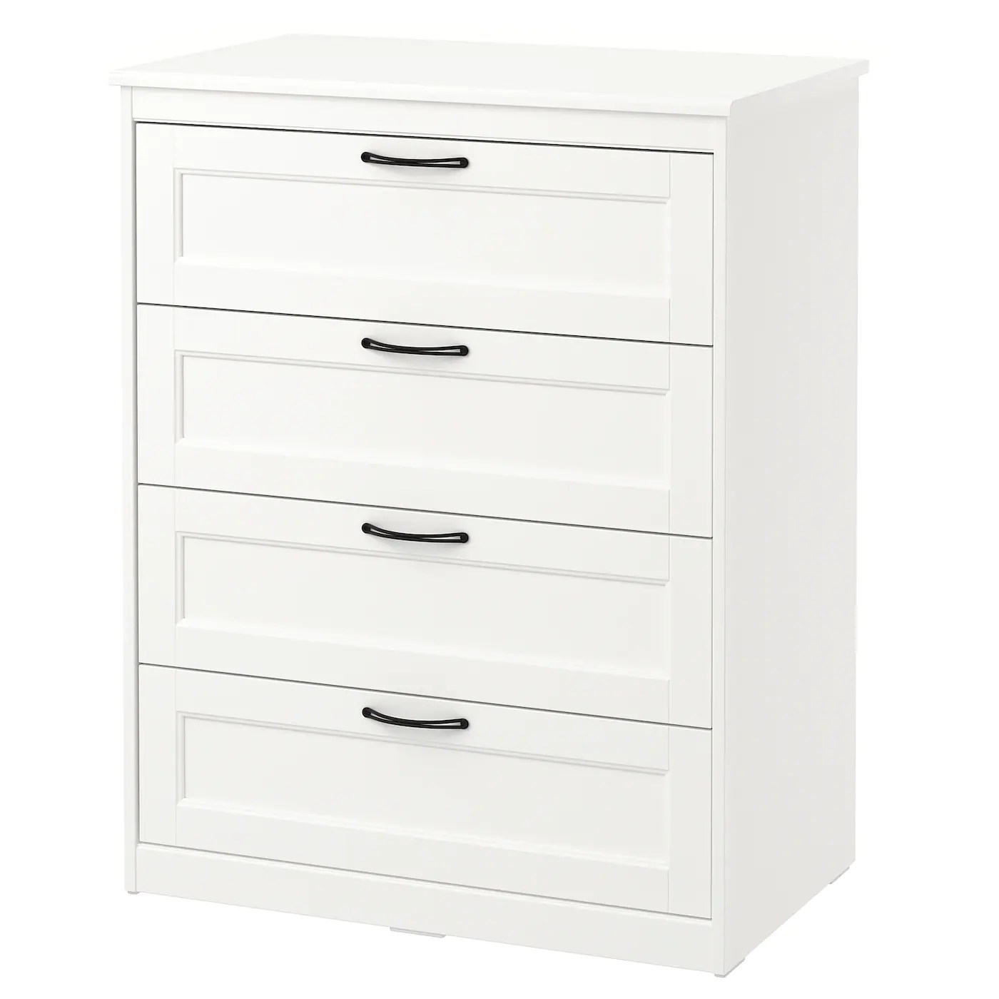 Ikea Commode Blanche Songesand Commode 4 Tiroirs Blanc