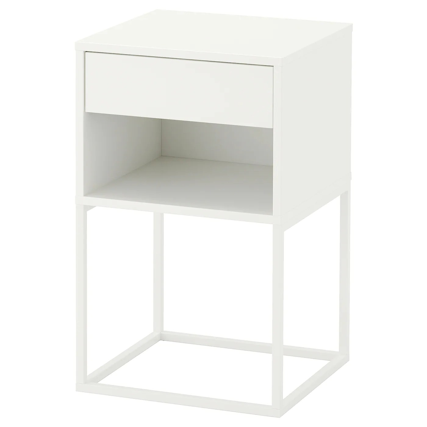 Table De Chevet Murale Ikea Vikhammer Table Chevet Blanc 40 X 39 Cm Ikea