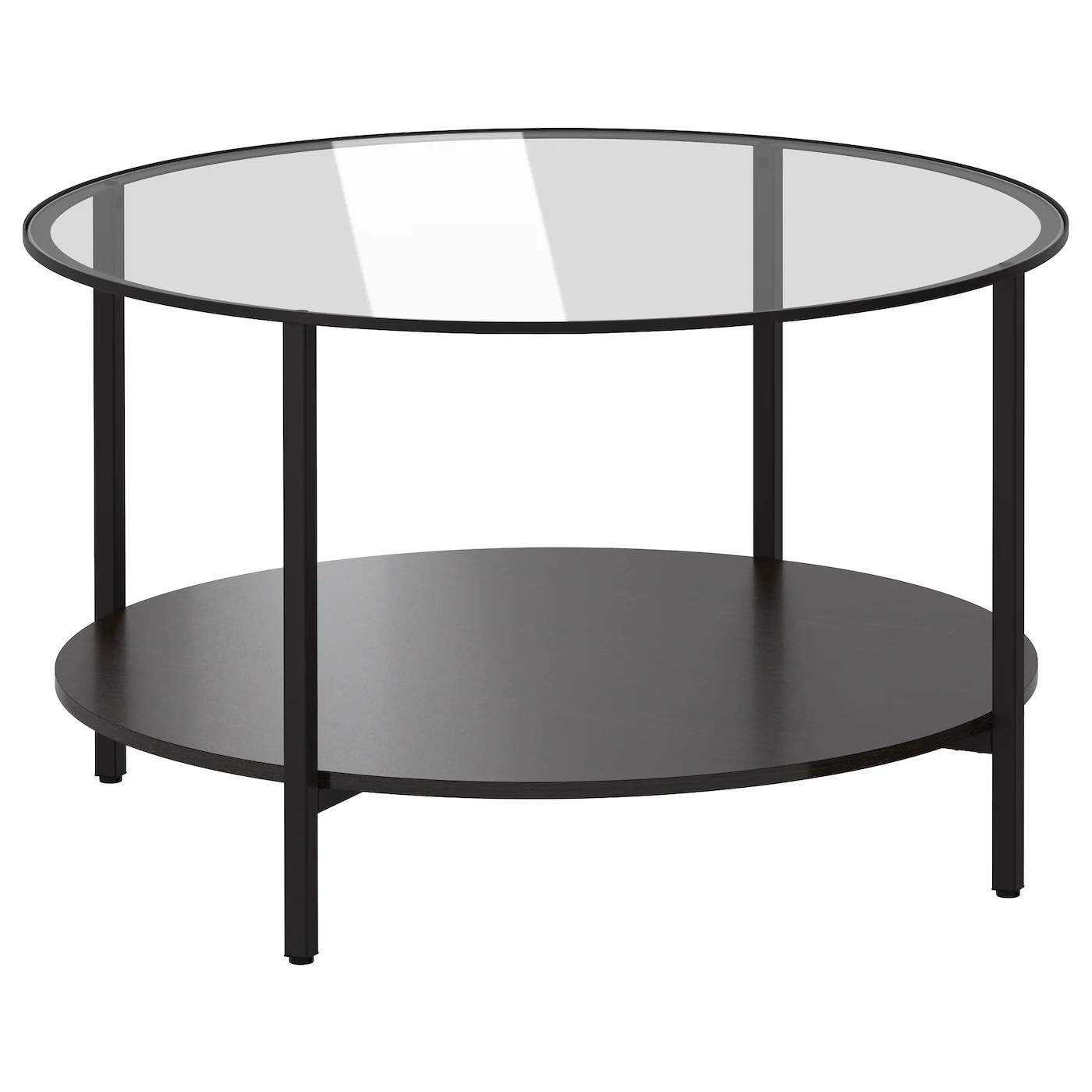 Table Ikea En Verre VittsjÖ Table Basse Brun Noir Verre