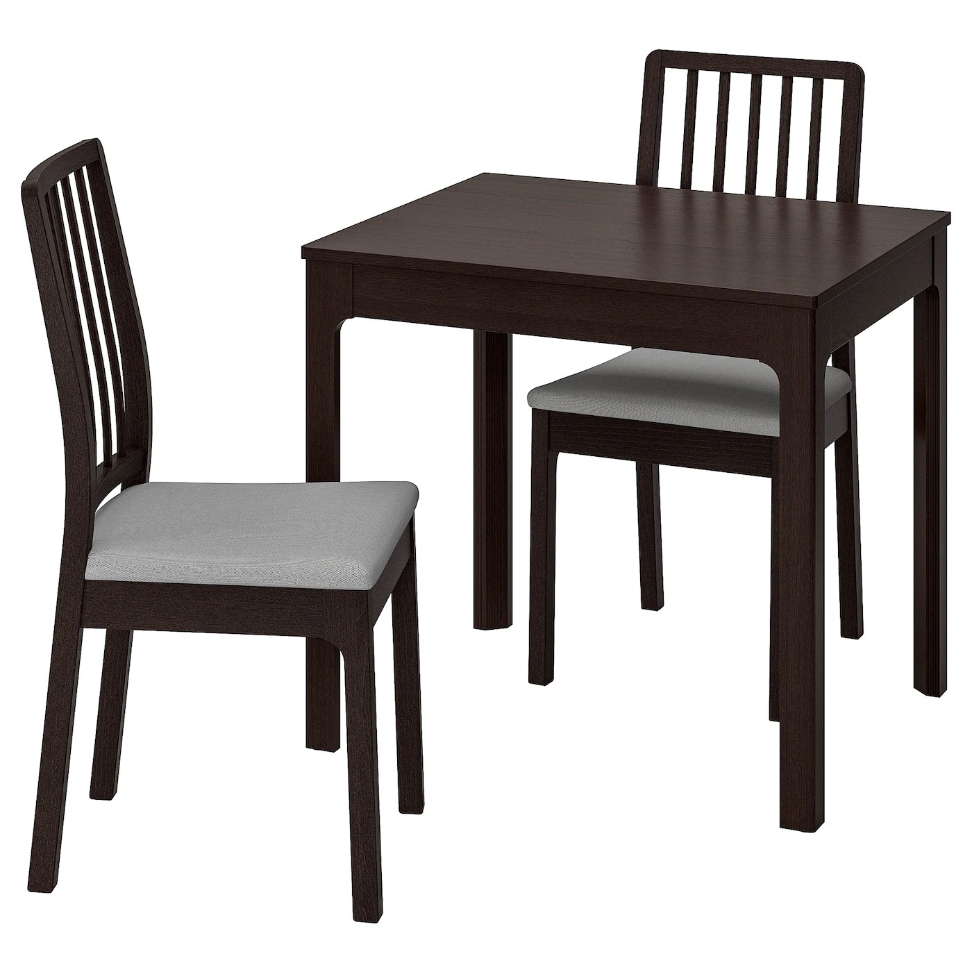 Ikea Couchtisch Dunkelbraun Ekedalen / Ekedalen Table And 2 Chairs - Dark Brown