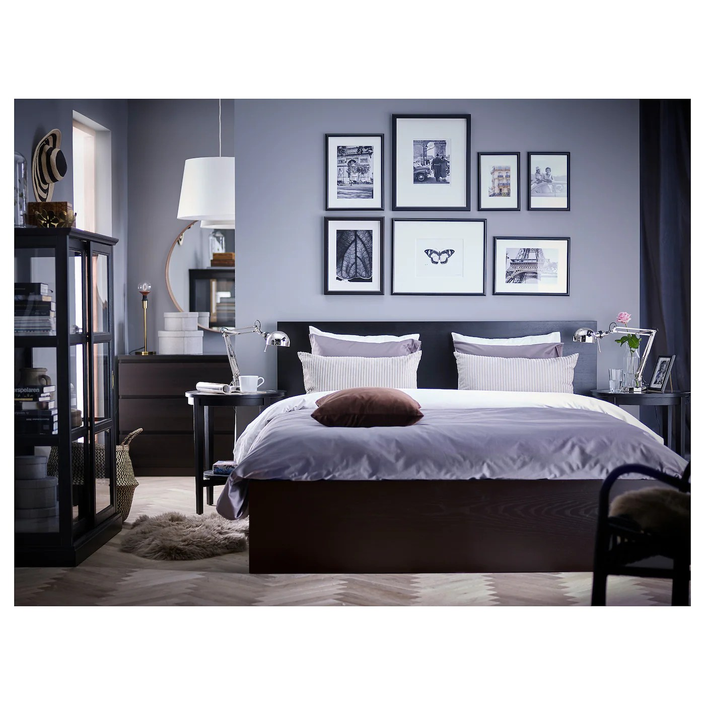 Malm Structure De Lit Haut Brun Noir Grand Deux Places Site Web Officiel Ikea