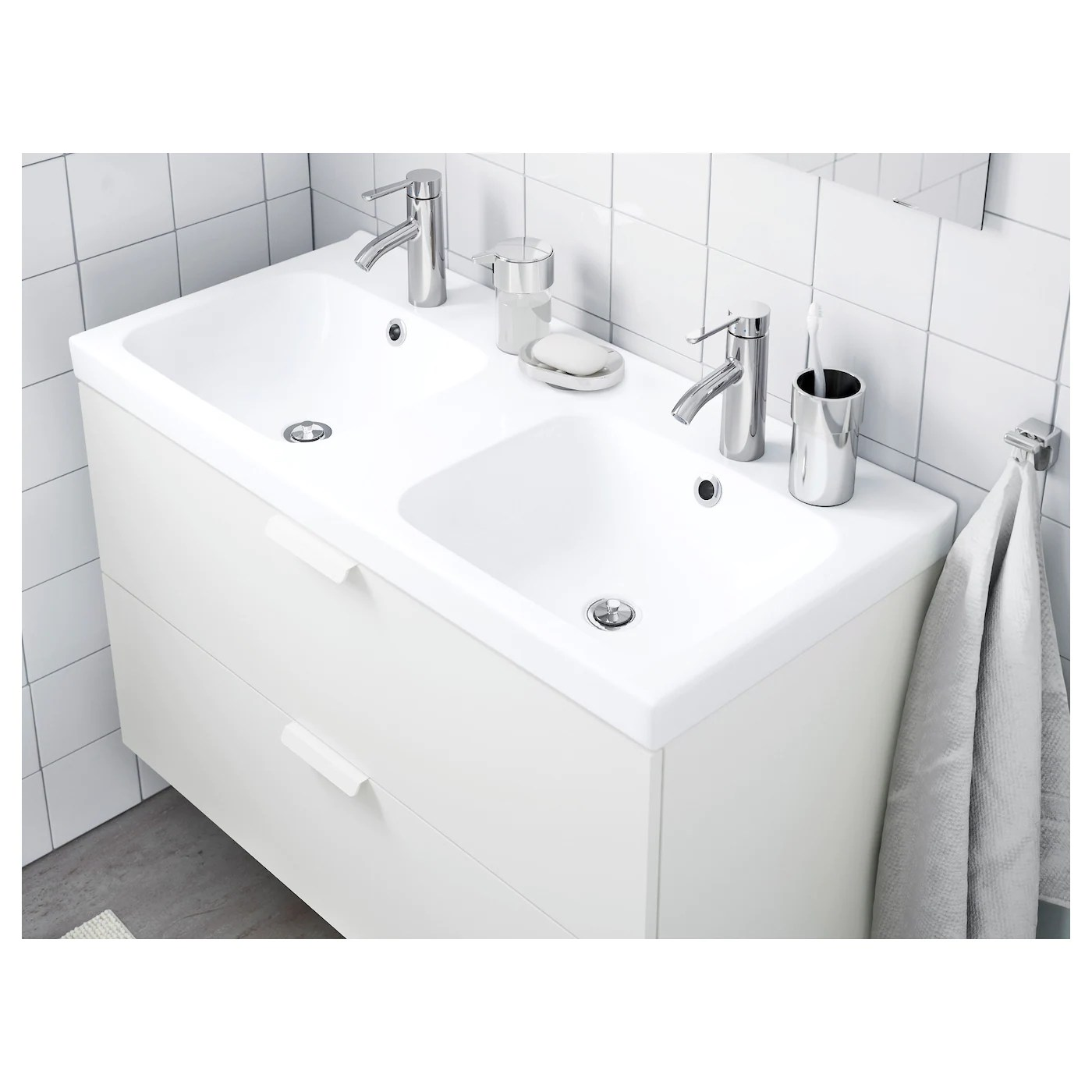 Odensvik Lavabo Double 103x49x6cm Site Web Officiel Ikea
