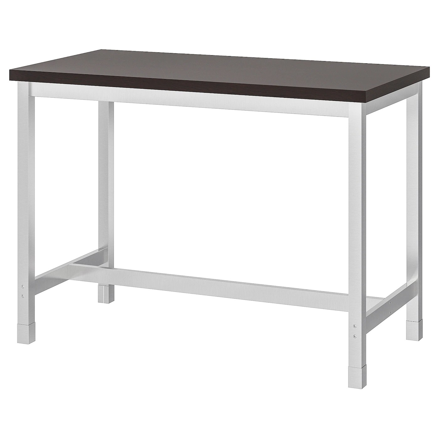 Utby Bar Table Brown Black Stainless Steel Ikea
