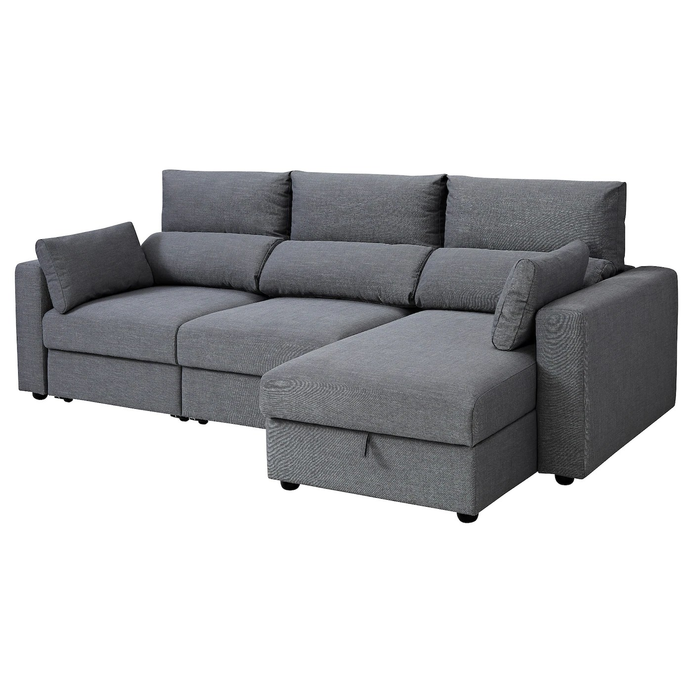 Ikea Online Bettsofa Eskilstuna 3 Seat Sofa With Chaise Longue Nordvalla Dark Grey