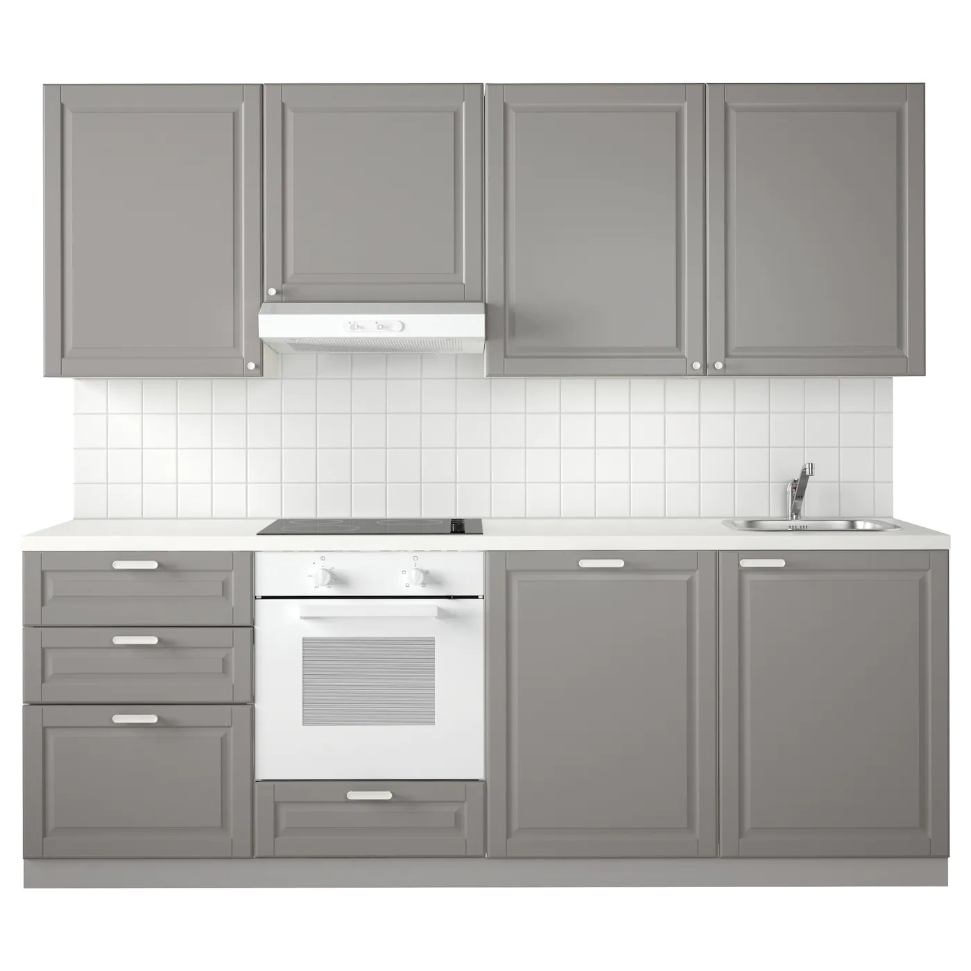 Ikea Method Metod Kitchen White Maximera Bodbyn Grey