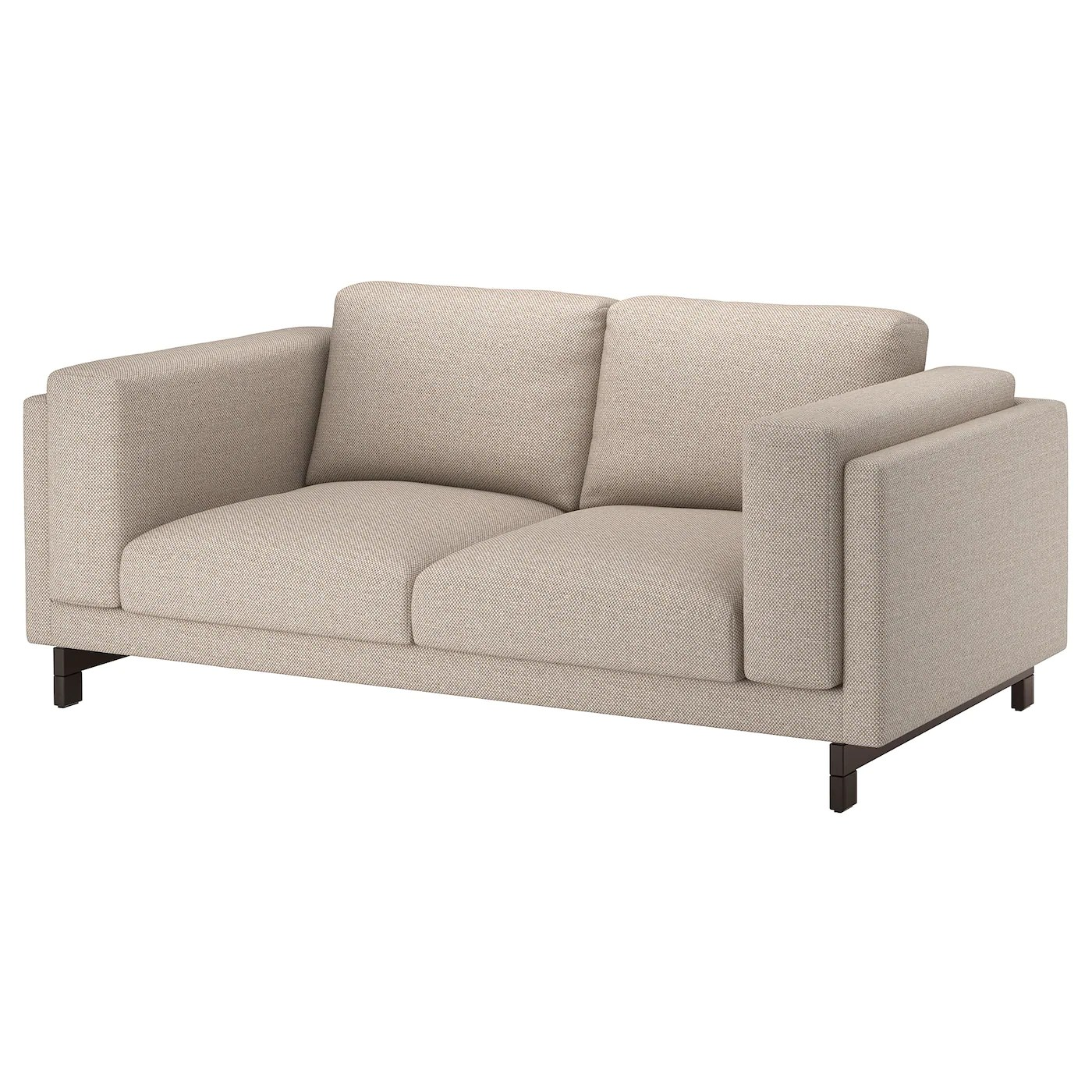Sofa Ikea Nockeby Two Seat Sofa Lejde Dark Beige Wood