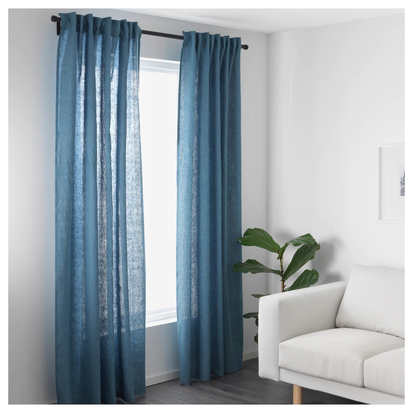 Curtain Ikea Aina Curtains 1 Pair Blue 145 X 250 Cm Ikea