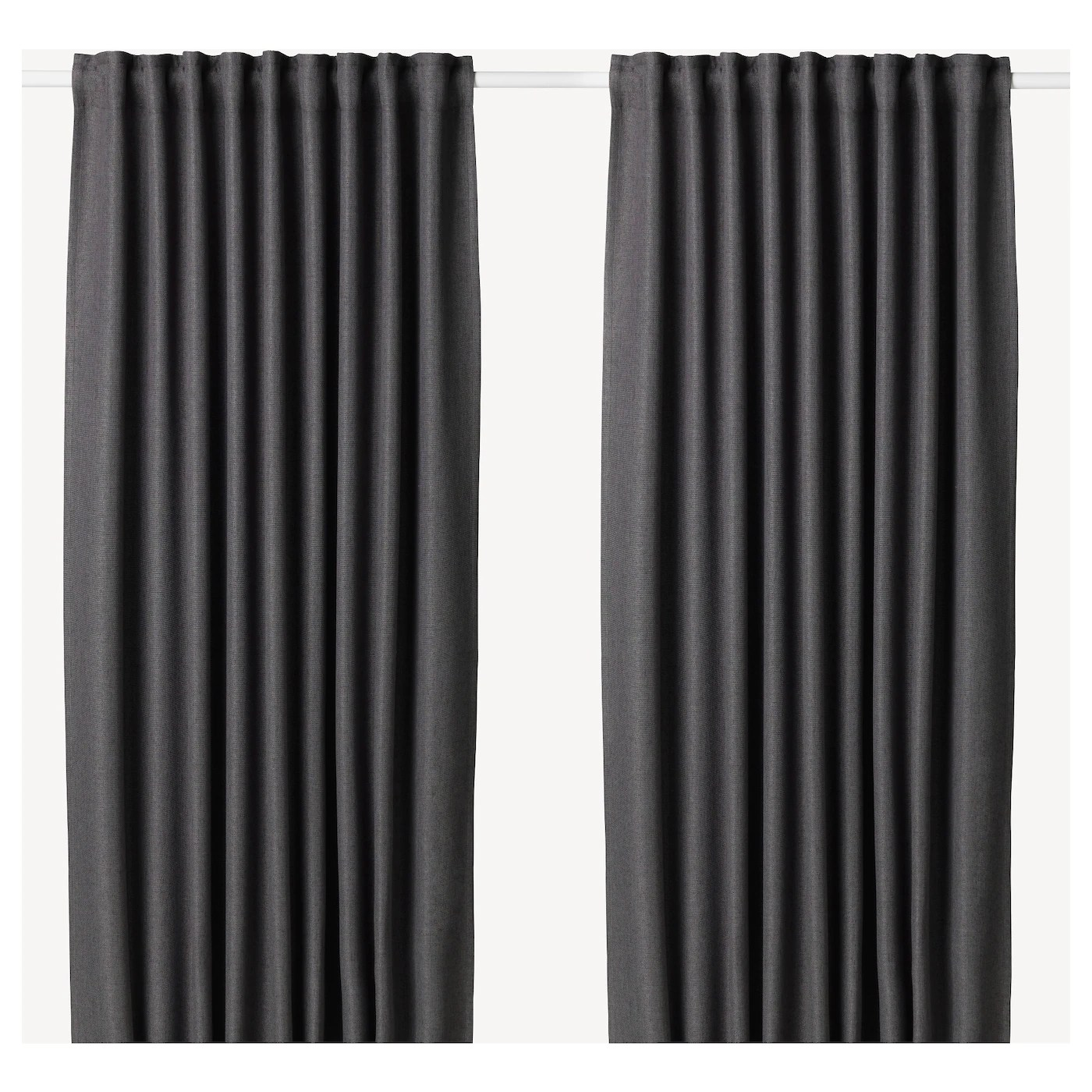 Annakajsa Room Darkening Curtains 1 Pair Grey Ikea - Ikea Vorhang Annakajsa