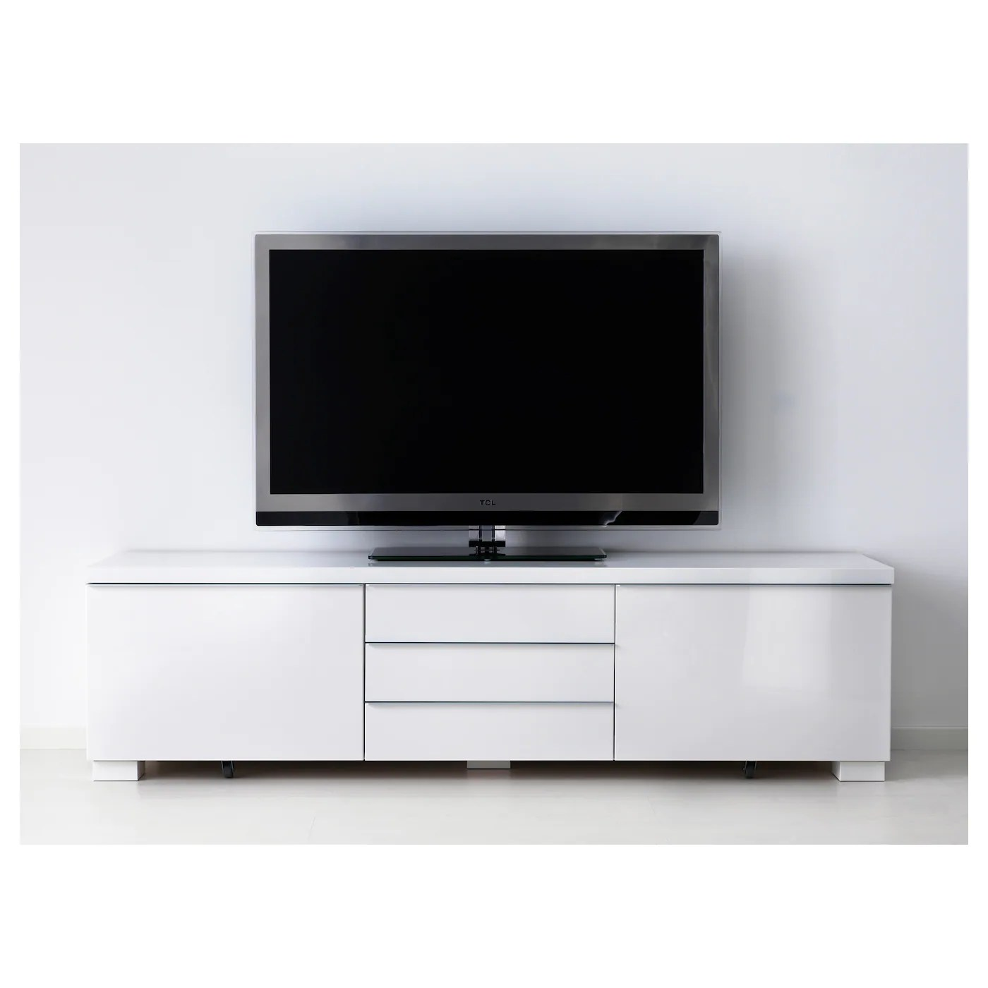Tv Paneel Ikea BestÅ Burs Tv Bench High Gloss White 180x41 Cm Ikea