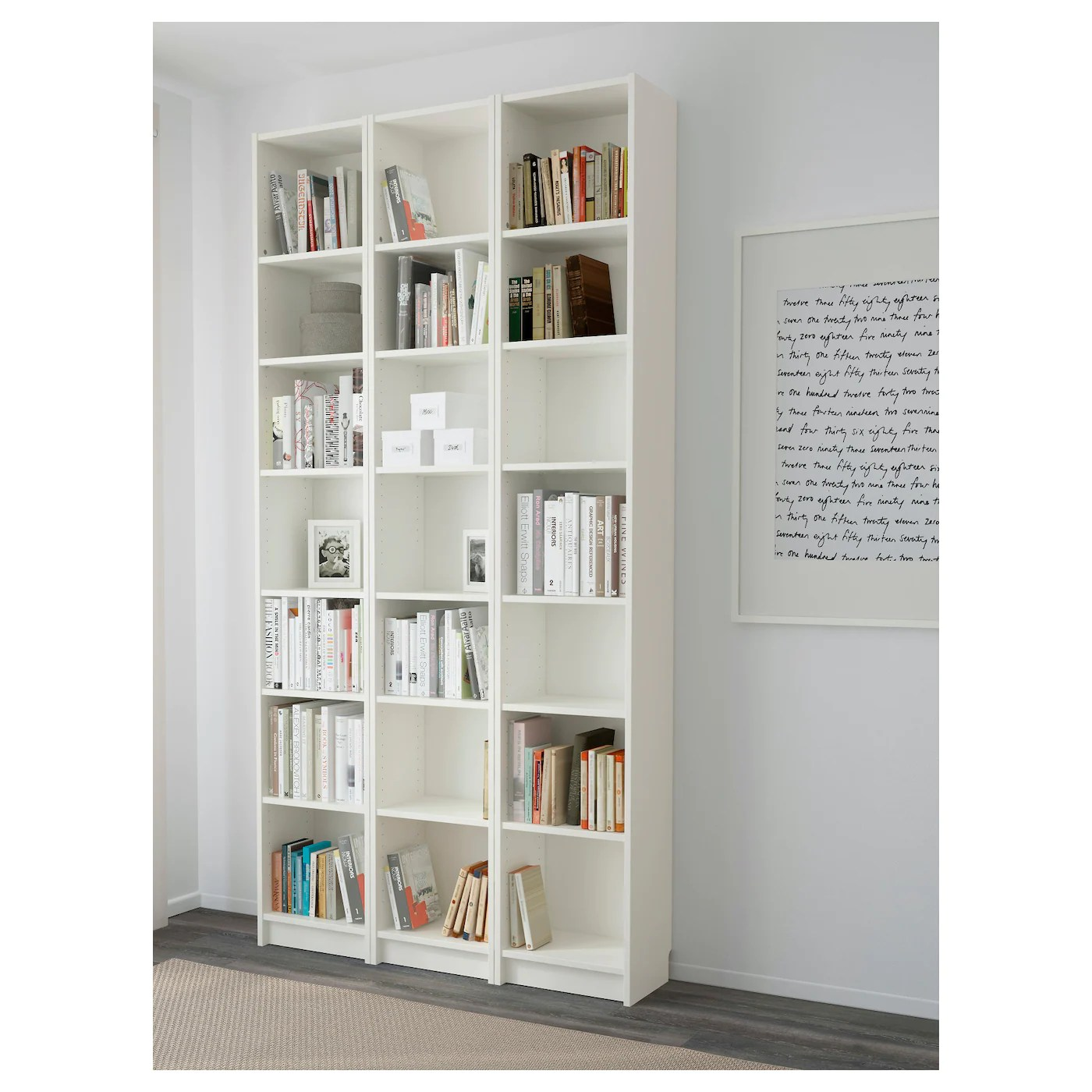 Ikea Billy Bookcase White Billy Bookcase White 120 X 237 X 28 Cm Ikea