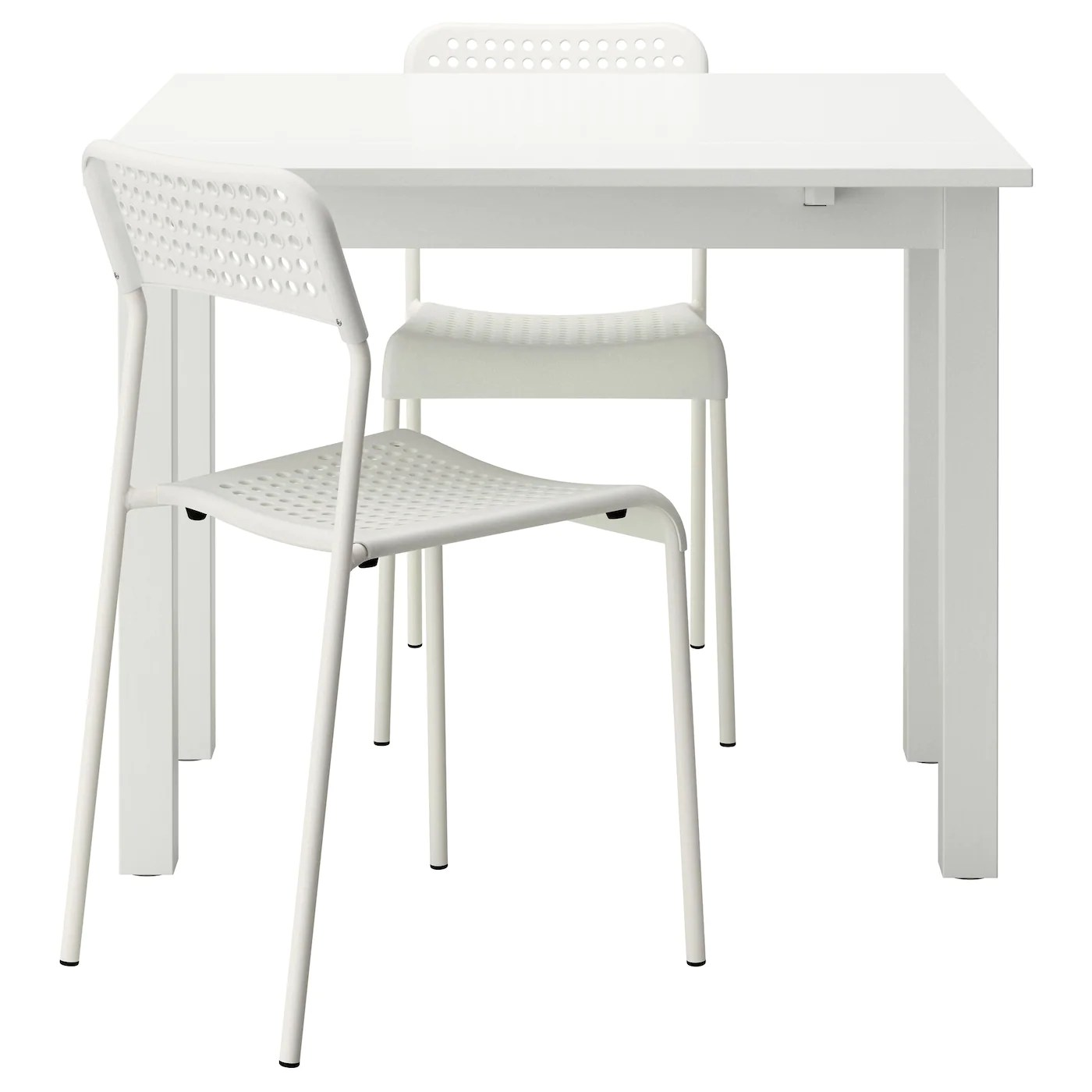 Ikea Tisch 50x50 Bjursta Adde Table And 2 Chairs White 50 Cm Ikea