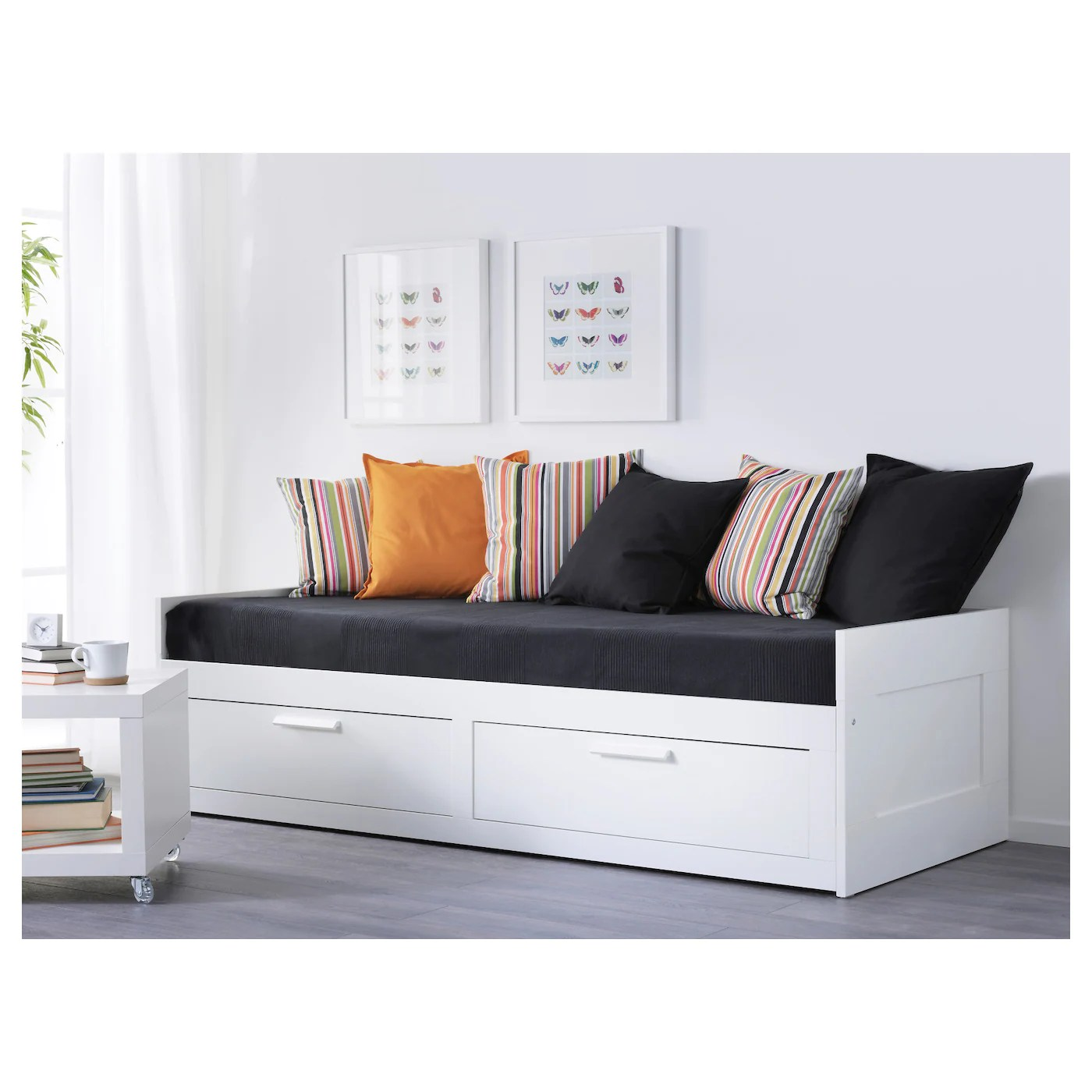 Ikea Brimnes Bett 120x200 Brimnes Day Bed Frame With 2 Drawers White