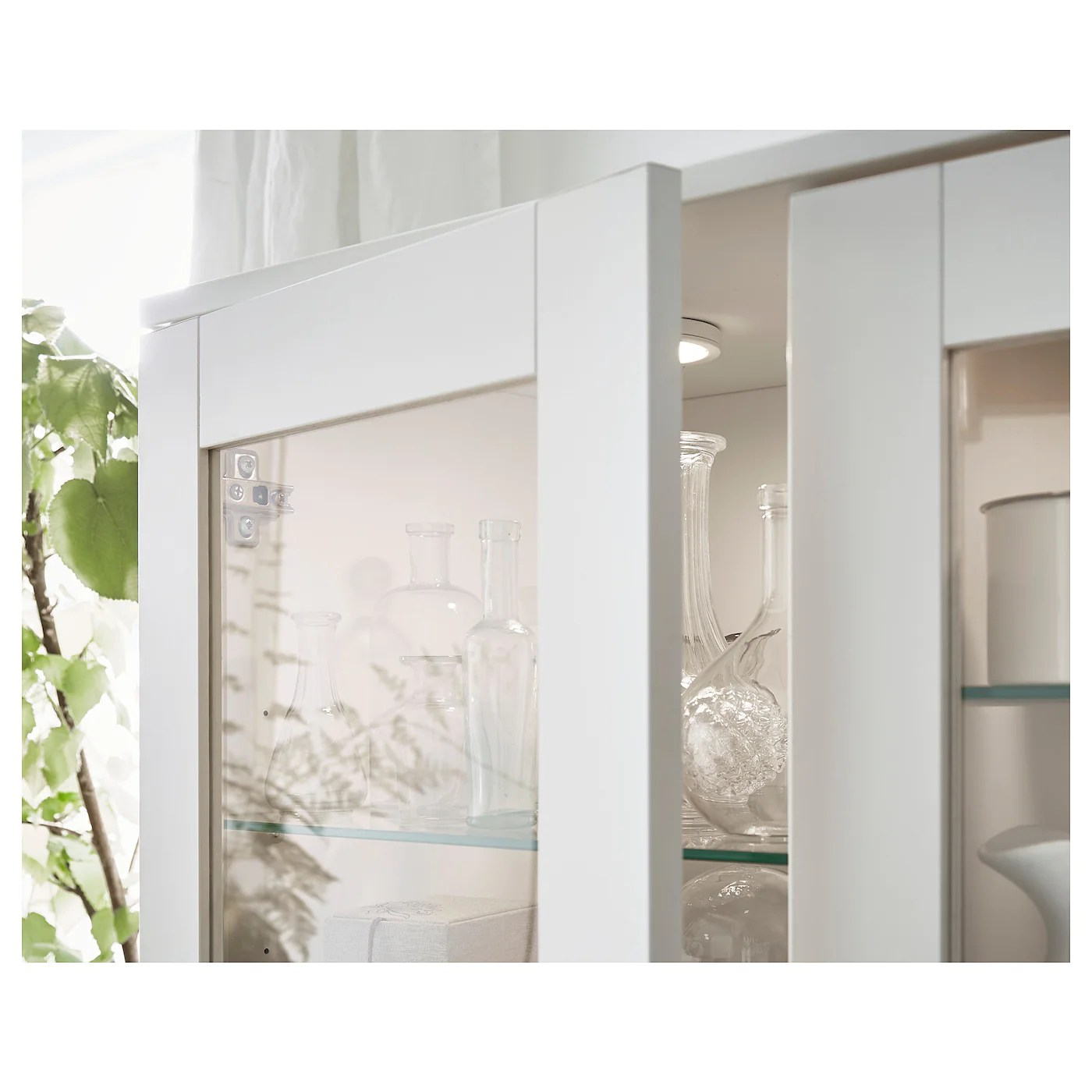 Ikea Brimnes Vitrine Brimnes Storage Combination W Glass Doors White