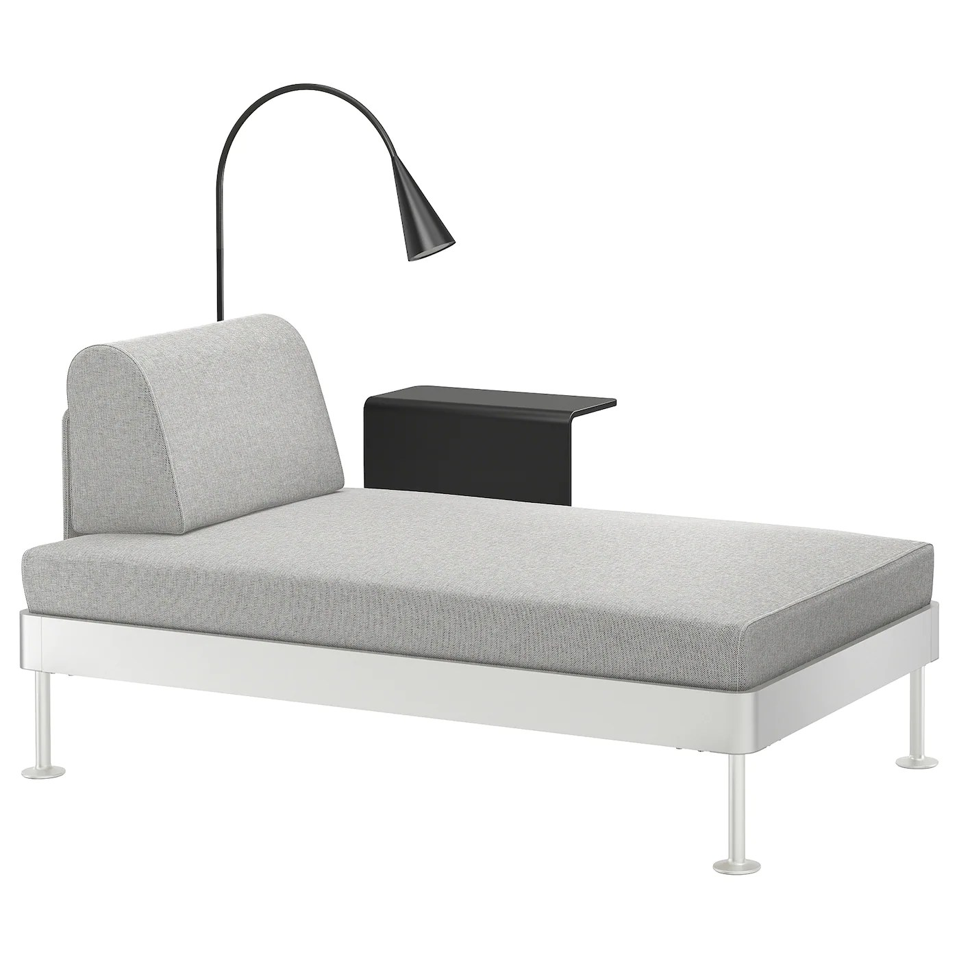 Chause Longue Delaktig Chaise Longue W Side Table And Lamp Tallmyra White Black