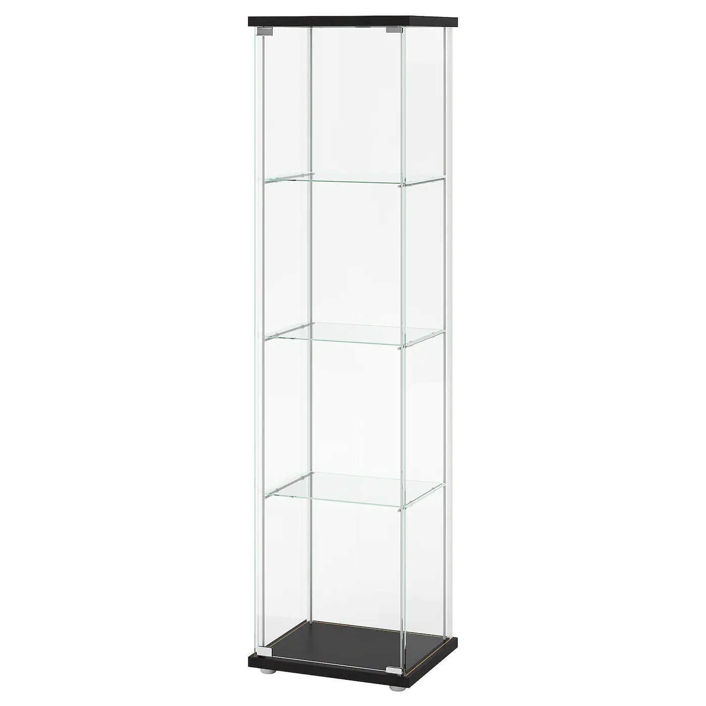 Glas Vitrine Vitrosa Detolf Glass Door Cabinet Black Brown