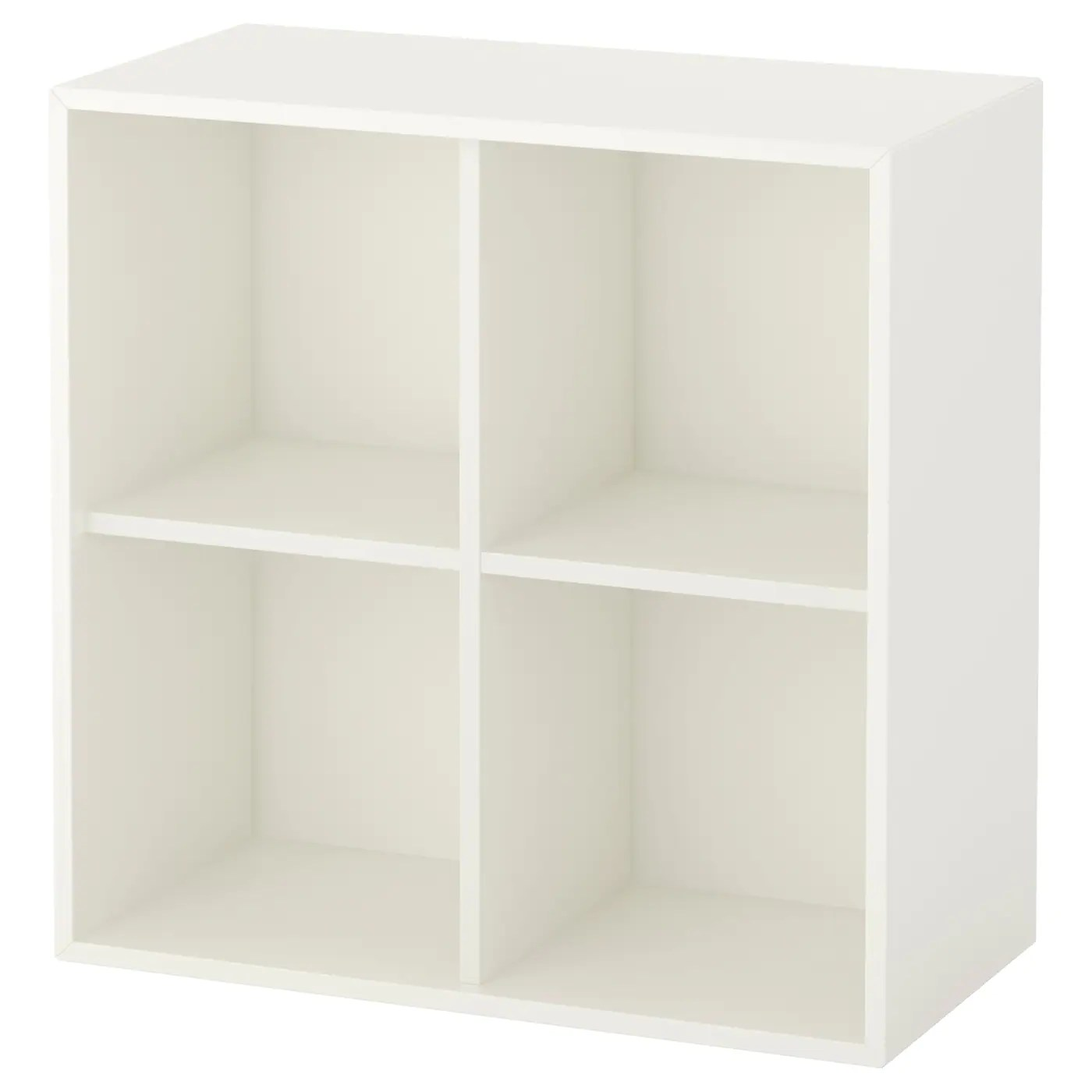 Meubles Cases Ikea Eket Wall Mounted Shelving Unit W 4 Comp White