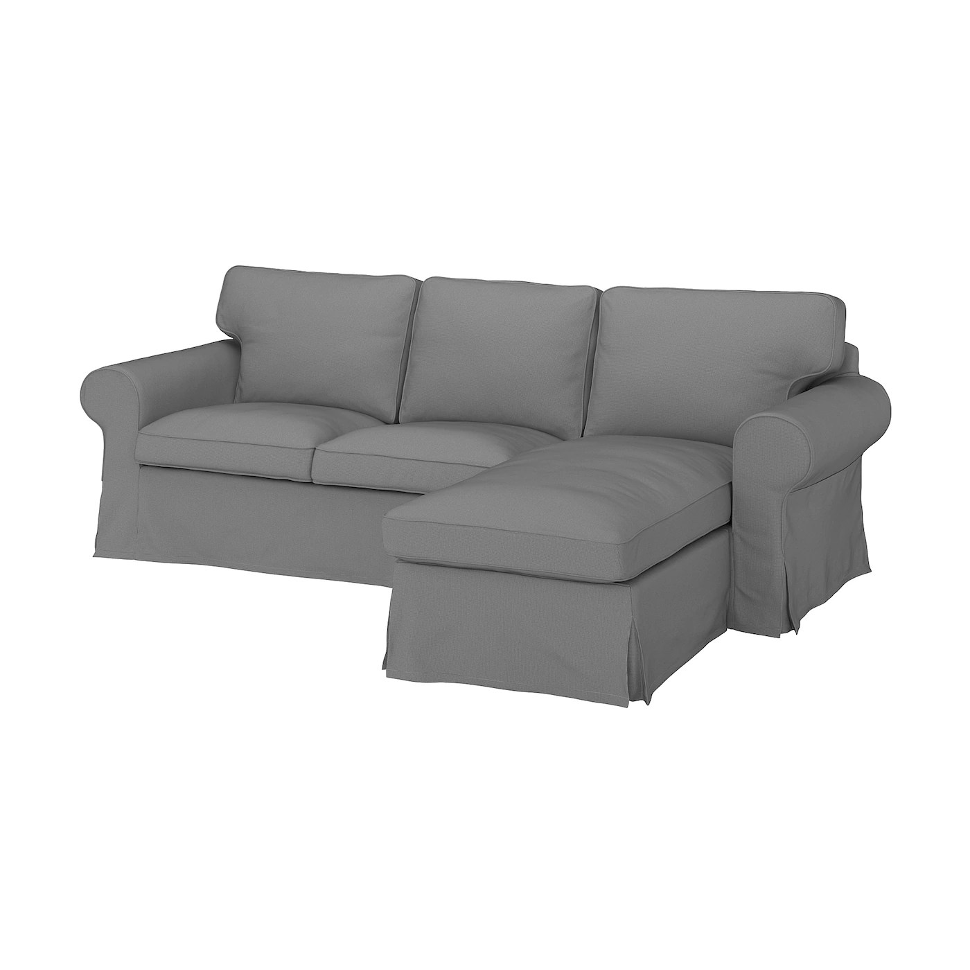 Ektorp 3 Seat Sofa With Chaise Longue Remmarn Light Grey Ikea