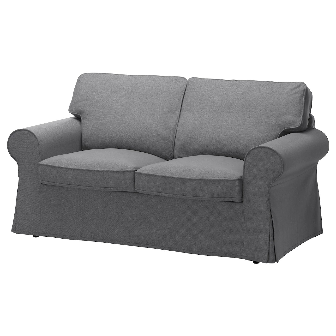 Grey Half Couch Ektorp Cover Two Seat Sofa Nordvalla Dark Grey Ikea