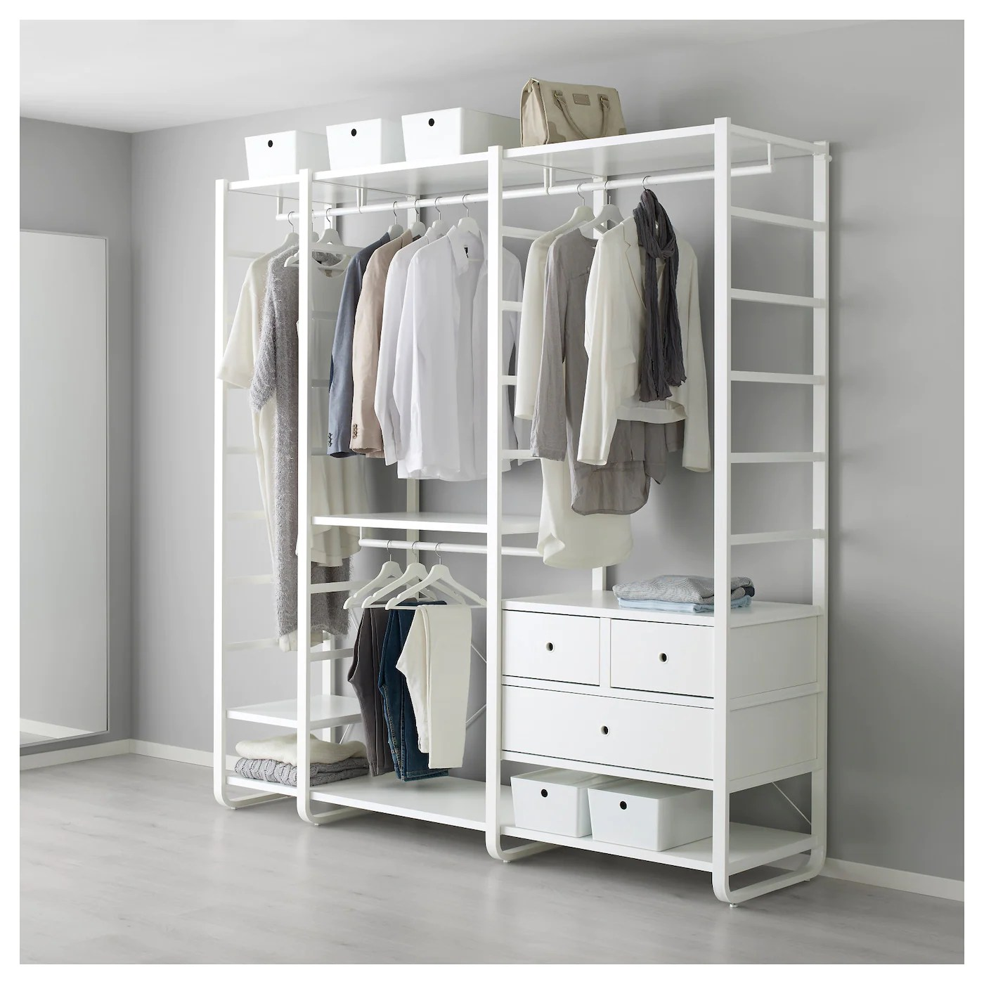 Dressing Ikea Stolmen Open Wardrobe Systems Open Storage Systems Ikea