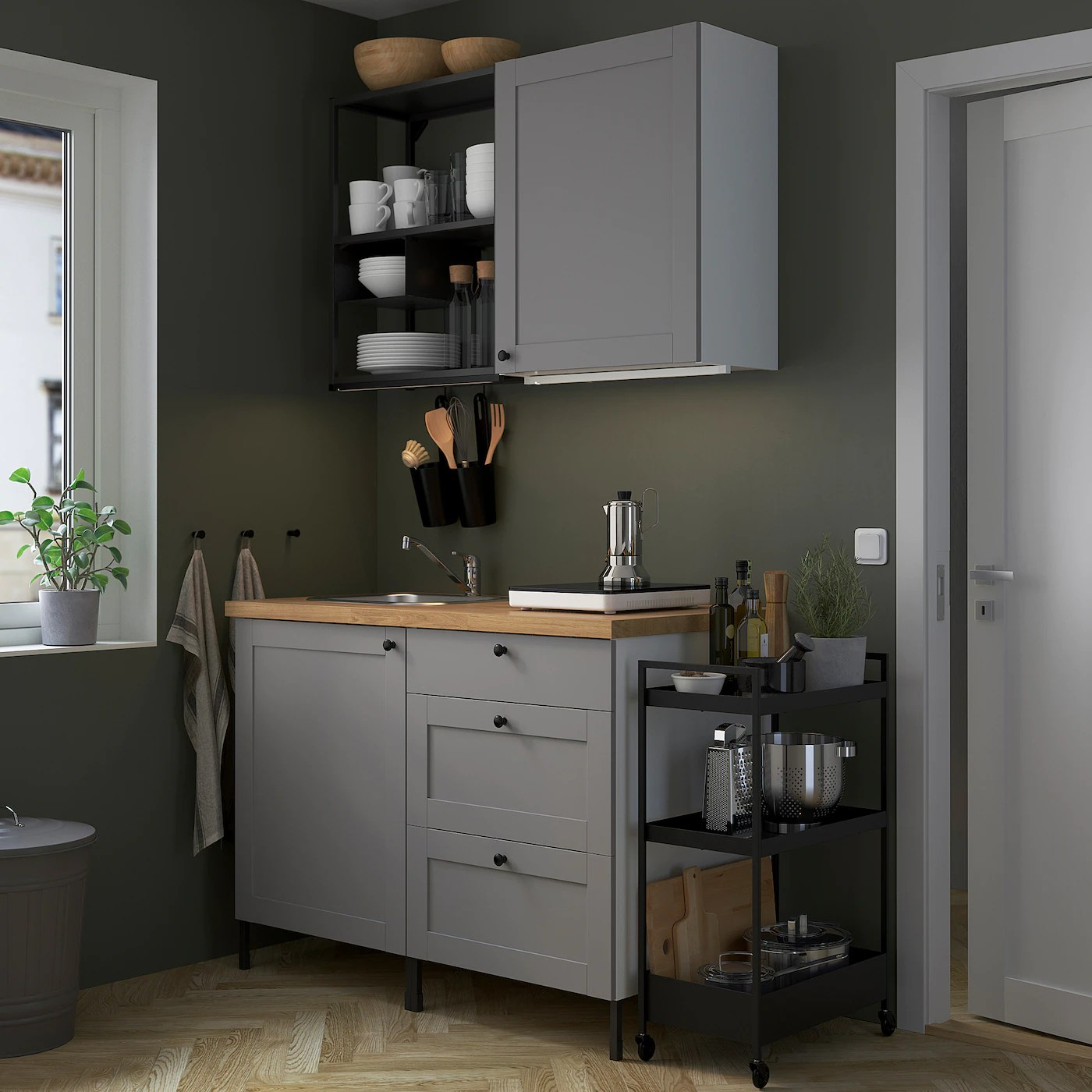 Ikea Küche Side By Side Kühlschrank Enhet Kitchen - Anthracite/grey Frame - Ikea