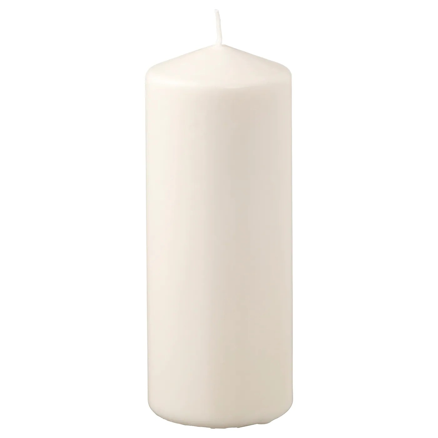 Ikea Küche 20cm Fenomen Unscented Block Candle Natural