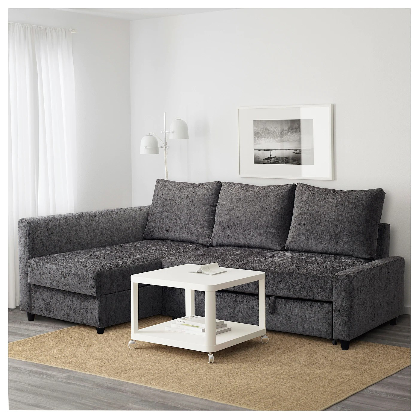 Bettsofa Ikea Friheten Friheten Corner Sofa Bed With Storage Dark Grey