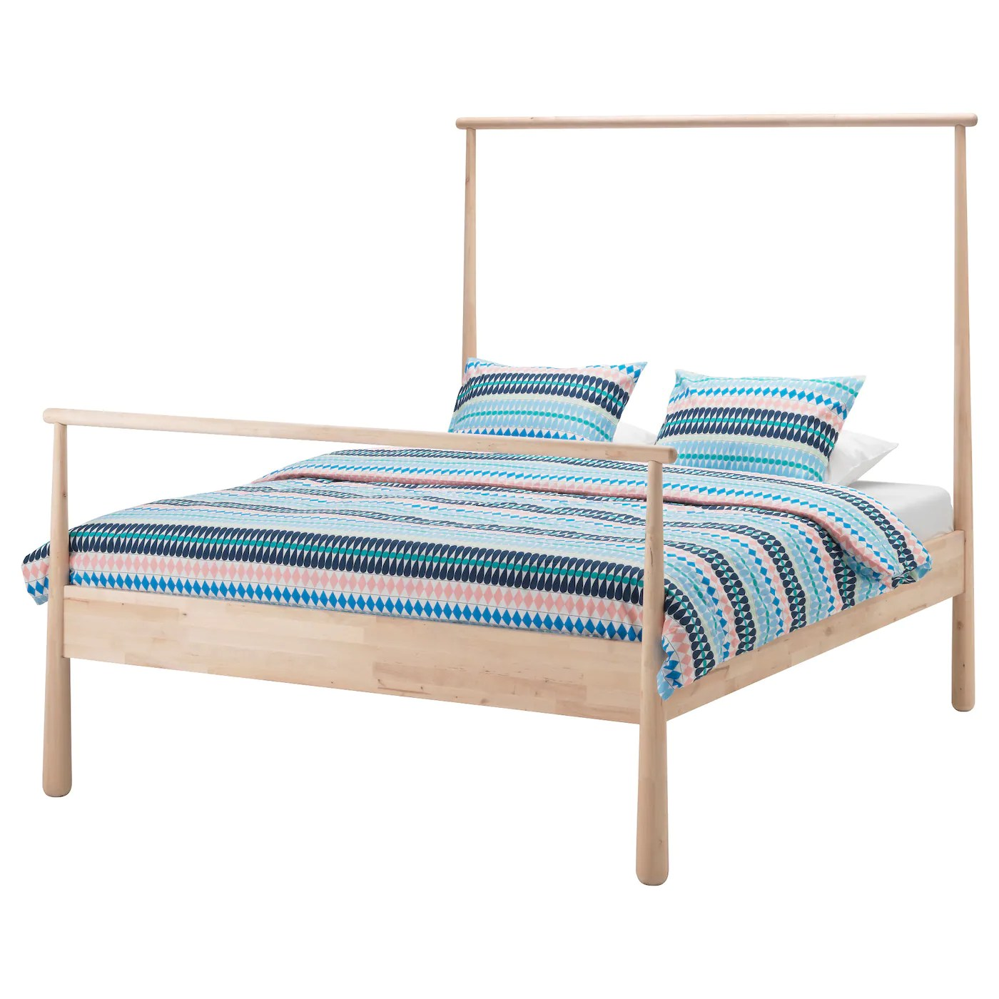 Double Beds Ikea GjÖra Bed Frame Birch Luröy Standard Double Ikea