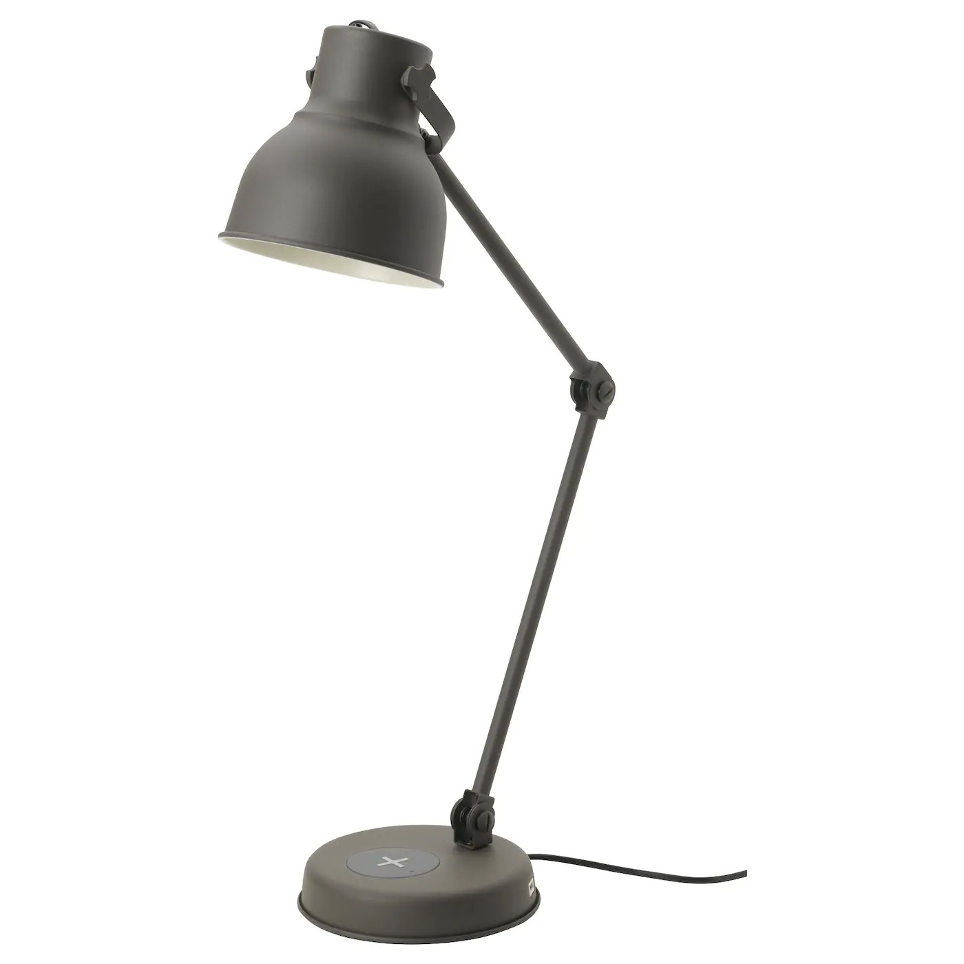 Hektar Floor Lamp Hektar Work Lamp With Wireless Charging Dark Grey - Ikea