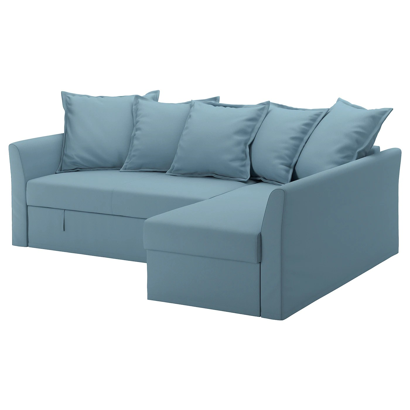 Bettsofa Ikea Blau Holmsund Corner Sofa Bed Gräsbo Light Blue