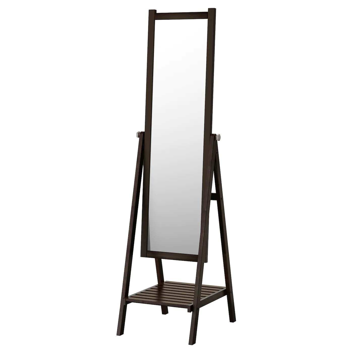 Mirrors Ikea Isfjorden Standing Mirror Black Brown Stain 47x182 Cm Ikea