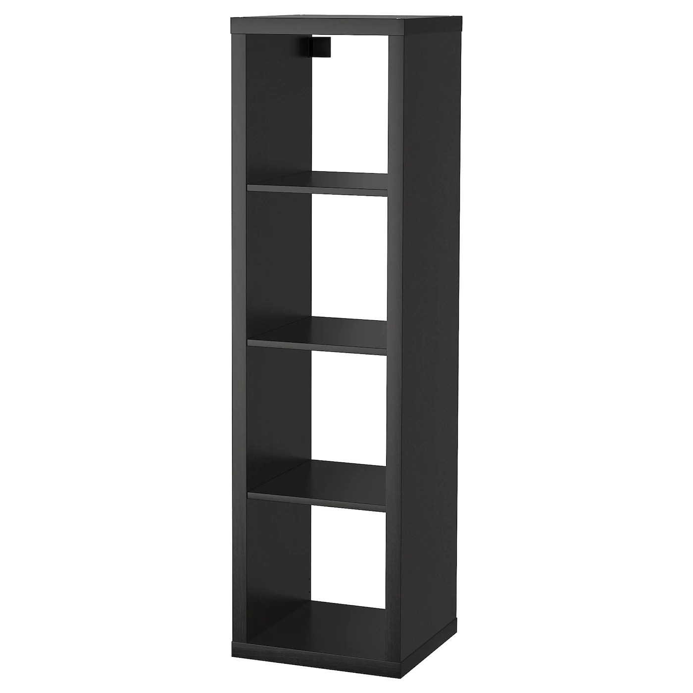 Ikea Kallax Cd Storage Kallax Shelving Unit Black Brown